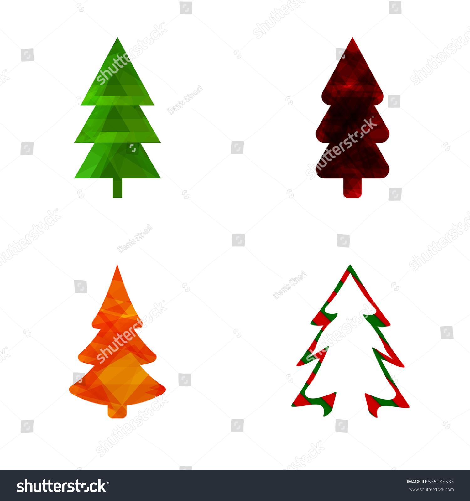 set christmas tree abstract logo design stock vector 535985533 rh shutterstock com christmas tree looks christmas tree lego