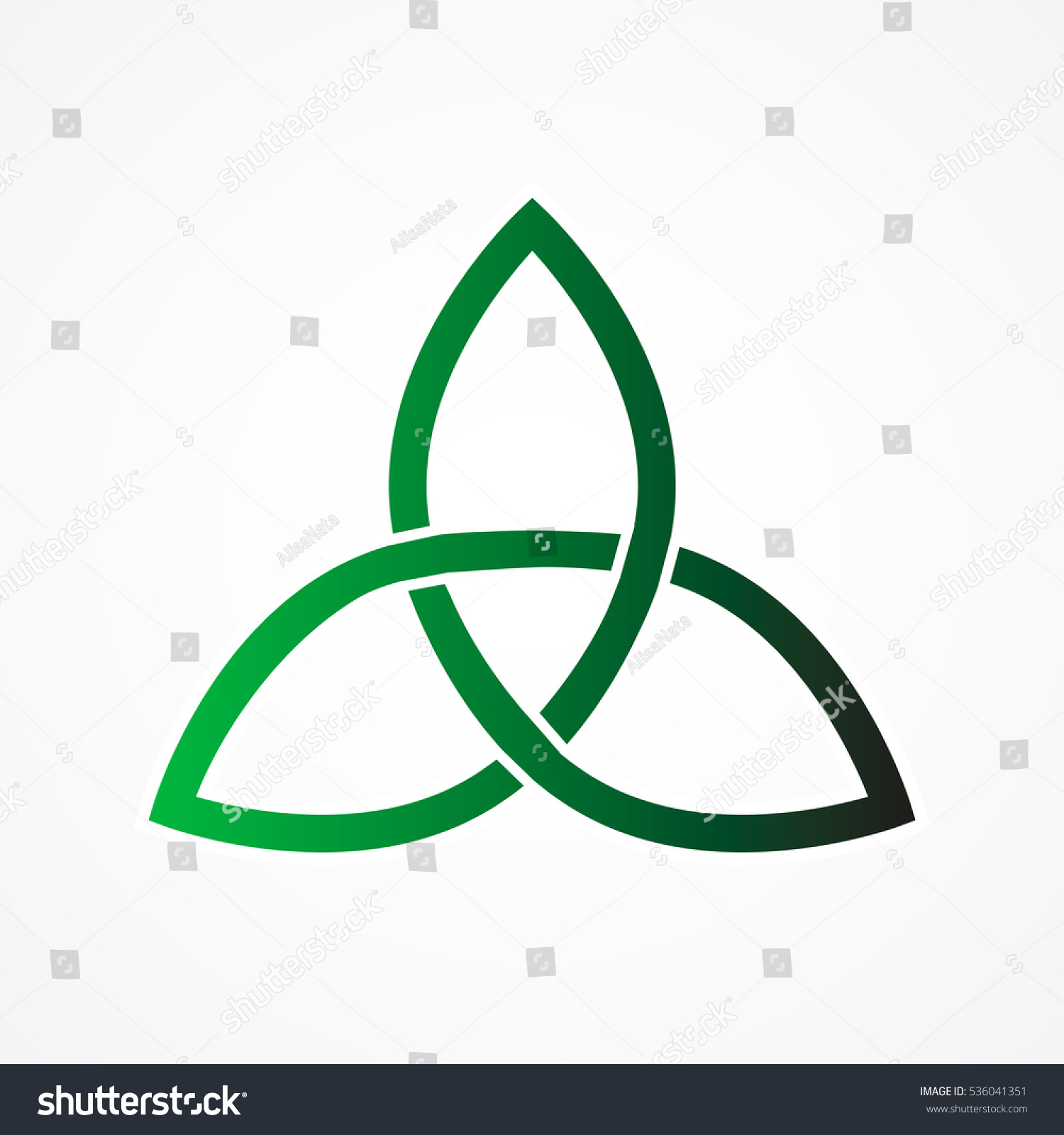 Trinity Knot Or Triquetra Ancient Celtic Symbol Of Eternity And