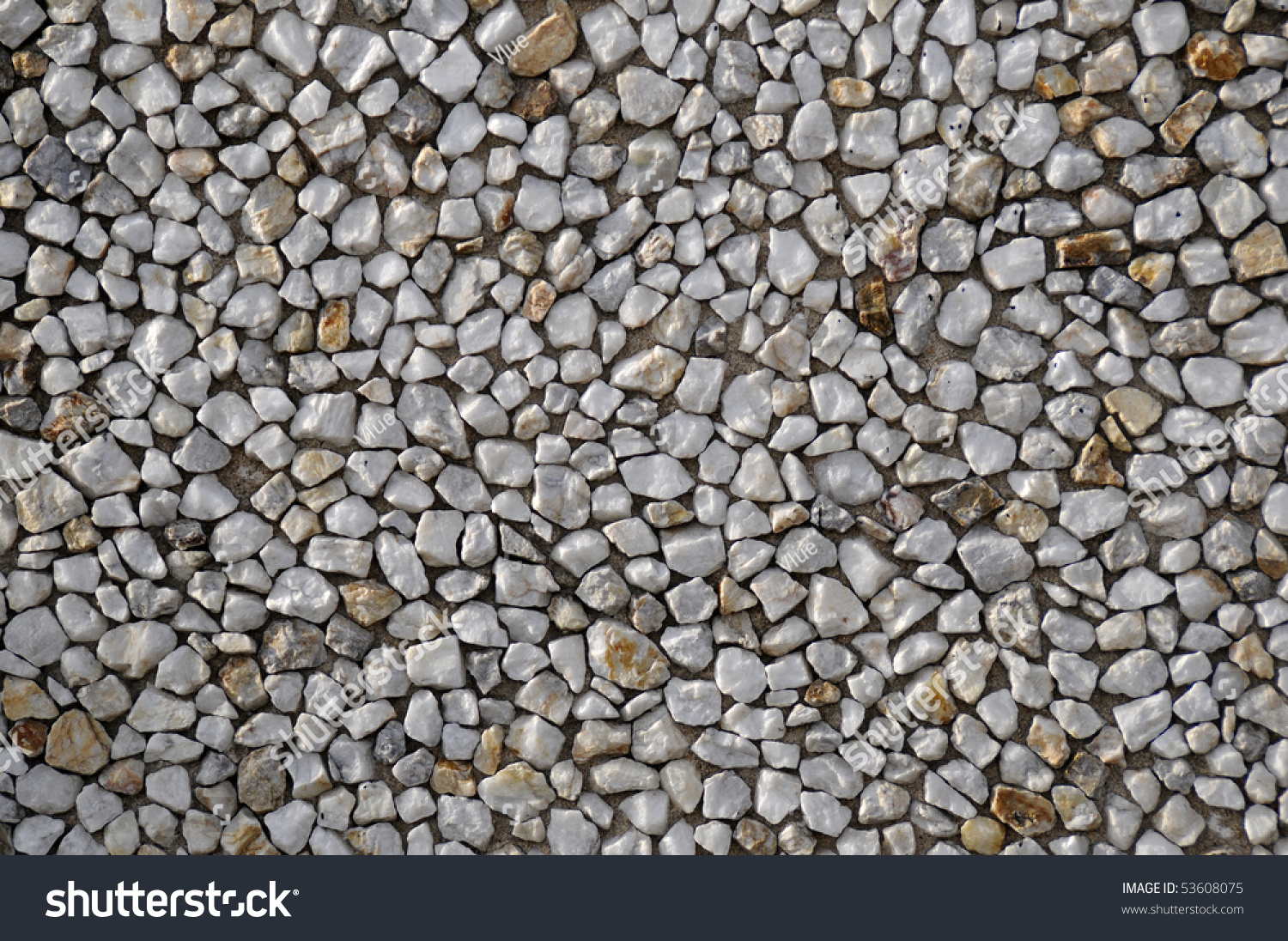 Bunch white mineral rocks placed on stock photo 53608075 for Mineral wall