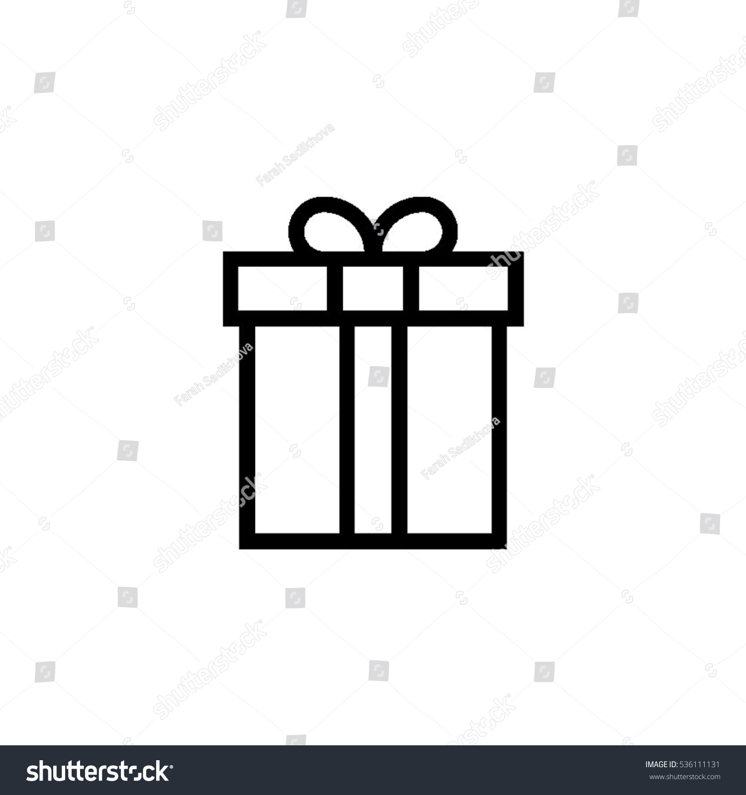 Gift Outline Icon Christmas Present Stock Vector 536111131