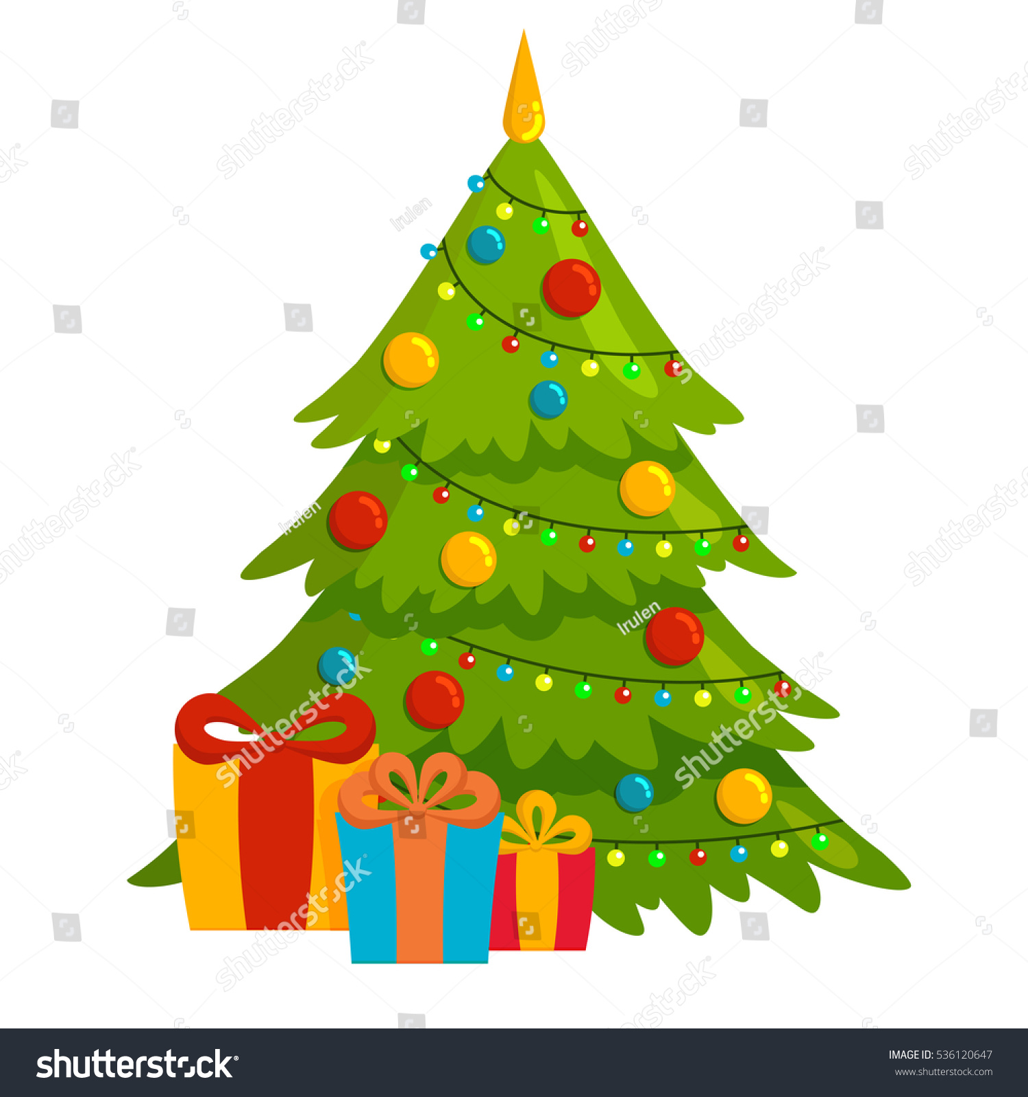 decorated christmas tree with gift boxes - Christmas Tree Boxes
