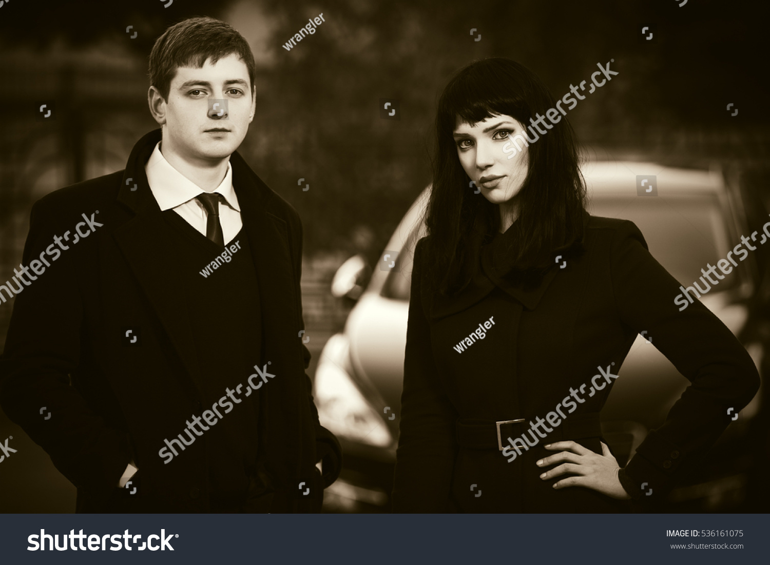Young Business Couple Next Car Parking Stock Photo 536161075 ...