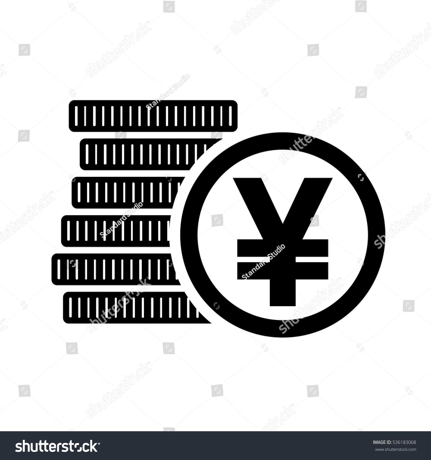 Japanese Yen Money Coins Sign Jpy Stock Vector 536183068 Shutterstock