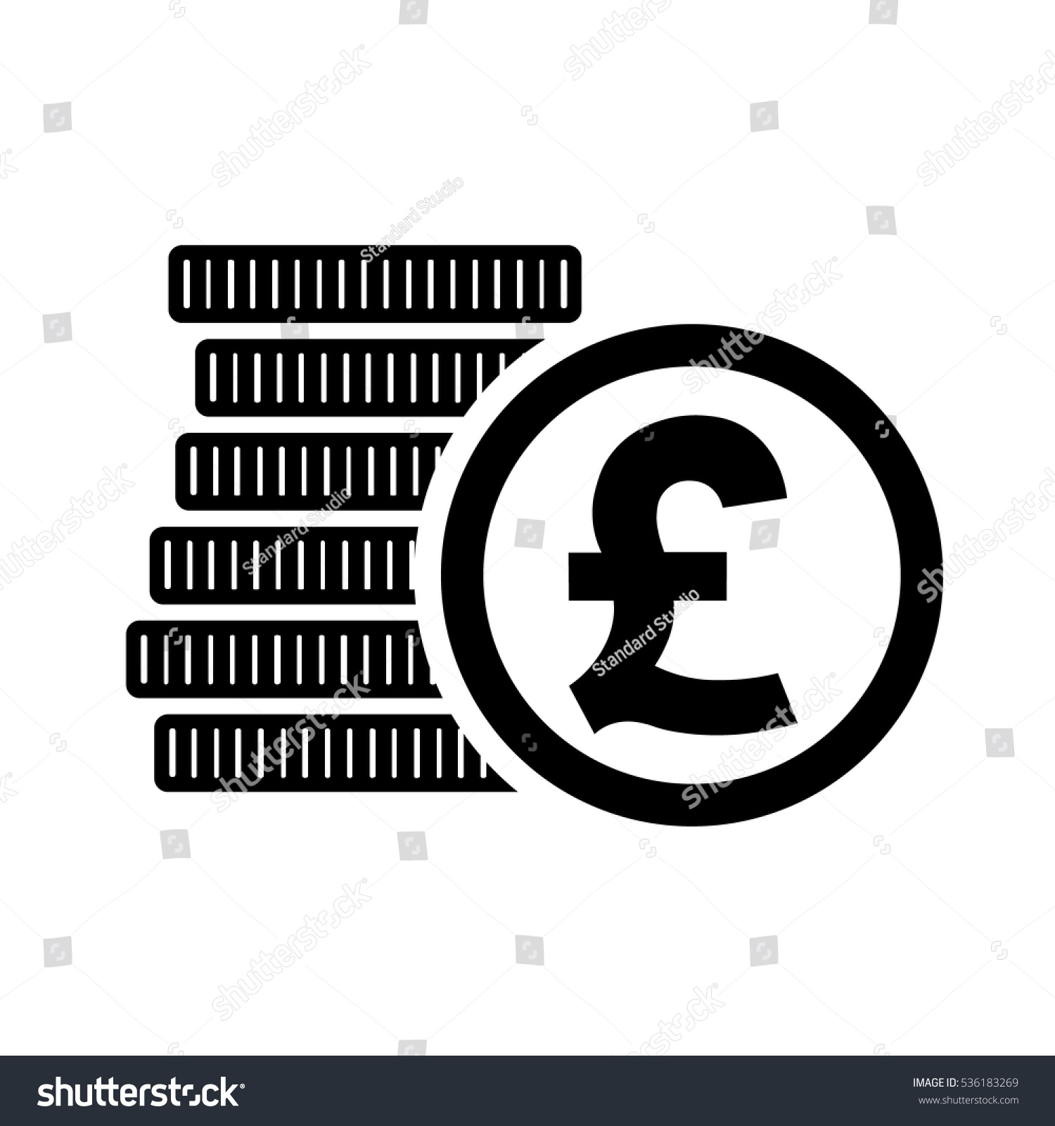 British pound money coins sign gbp stock vector 536183269 british pound money coins sign gbp currency symbol vector illustration biocorpaavc Images