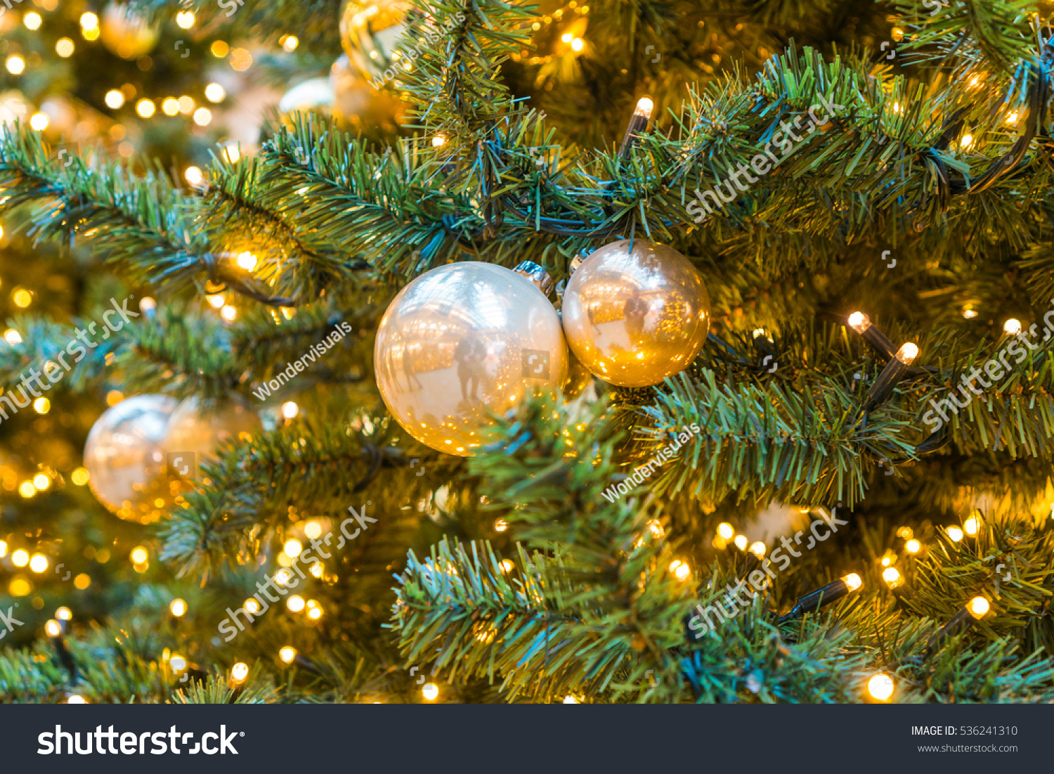 id 536241310 - Yellow Christmas Decorations