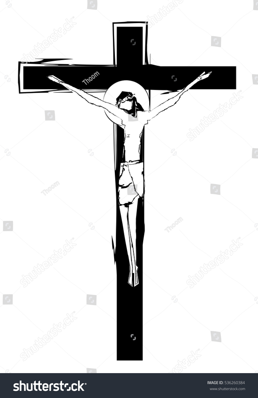 cross crucifix jesus christ abstract artistic stock vector