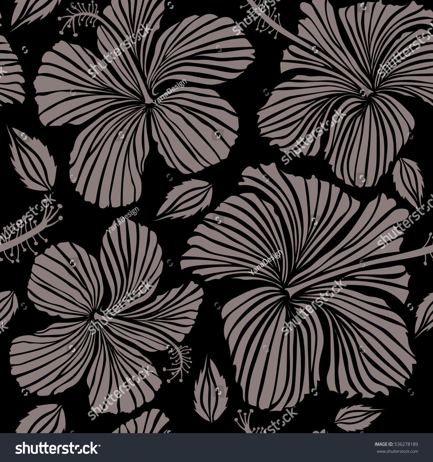 Hibiscus flowers on black background beige stock illustration hibiscus flowers on black background beige stock illustration 536278189 shutterstock izmirmasajfo