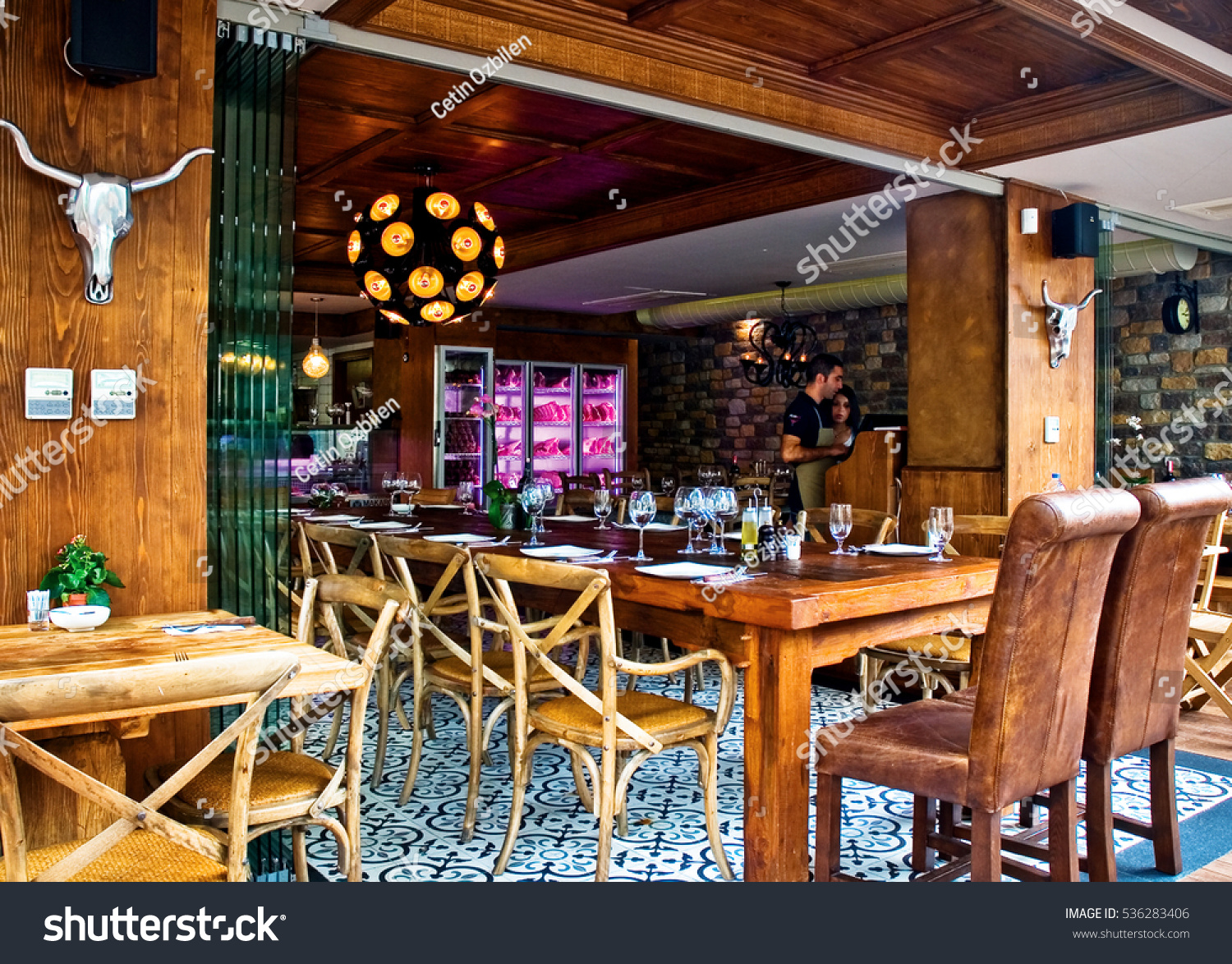 paris france 22 november 2016 the interior design of a seafood restaurant and - Interior Design Groups