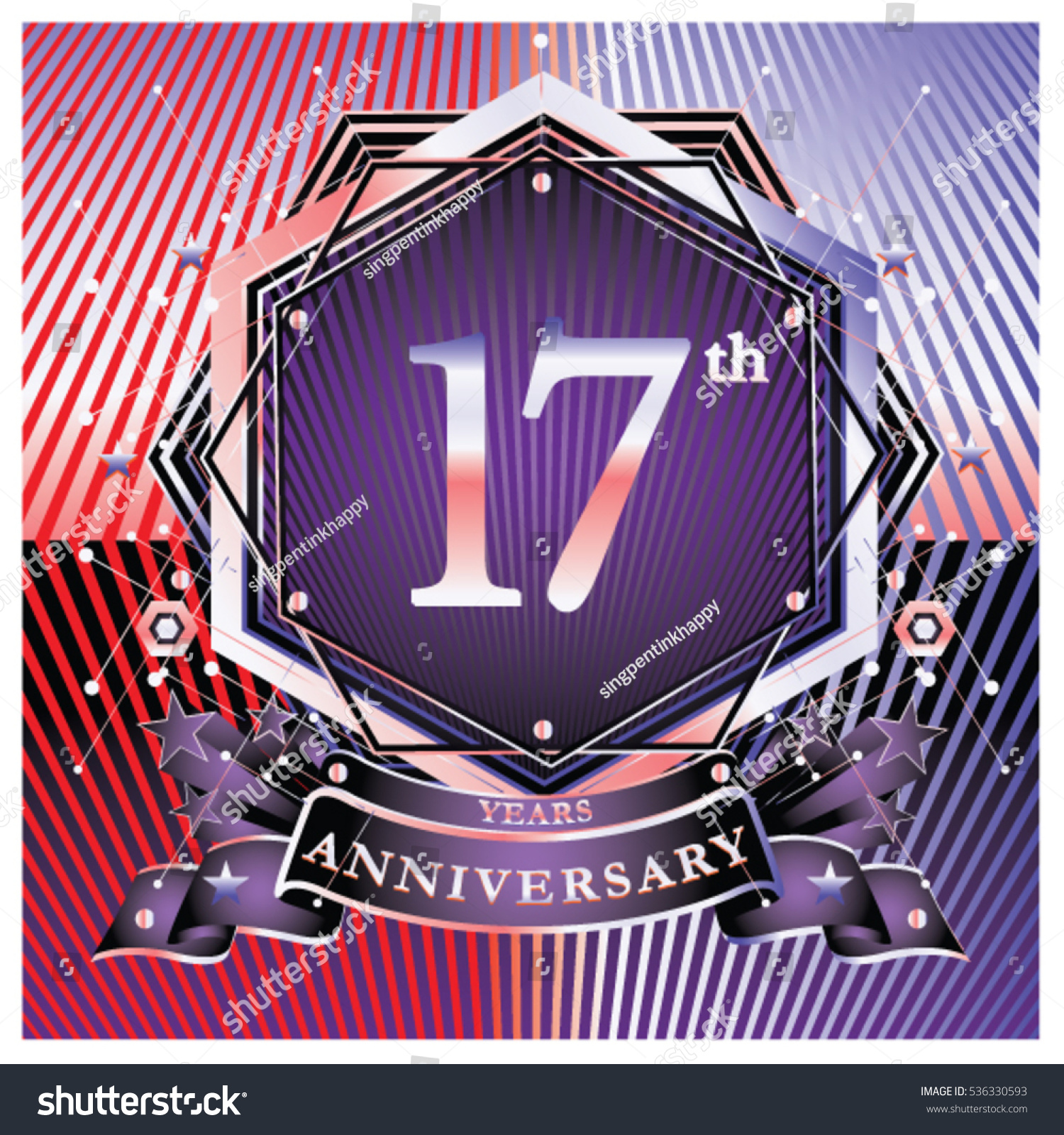 17 years anniversary logo celebration ring stock vector 536330593 17 years anniversary logo celebration with ring and ribbon symbol and template for greeting card buycottarizona