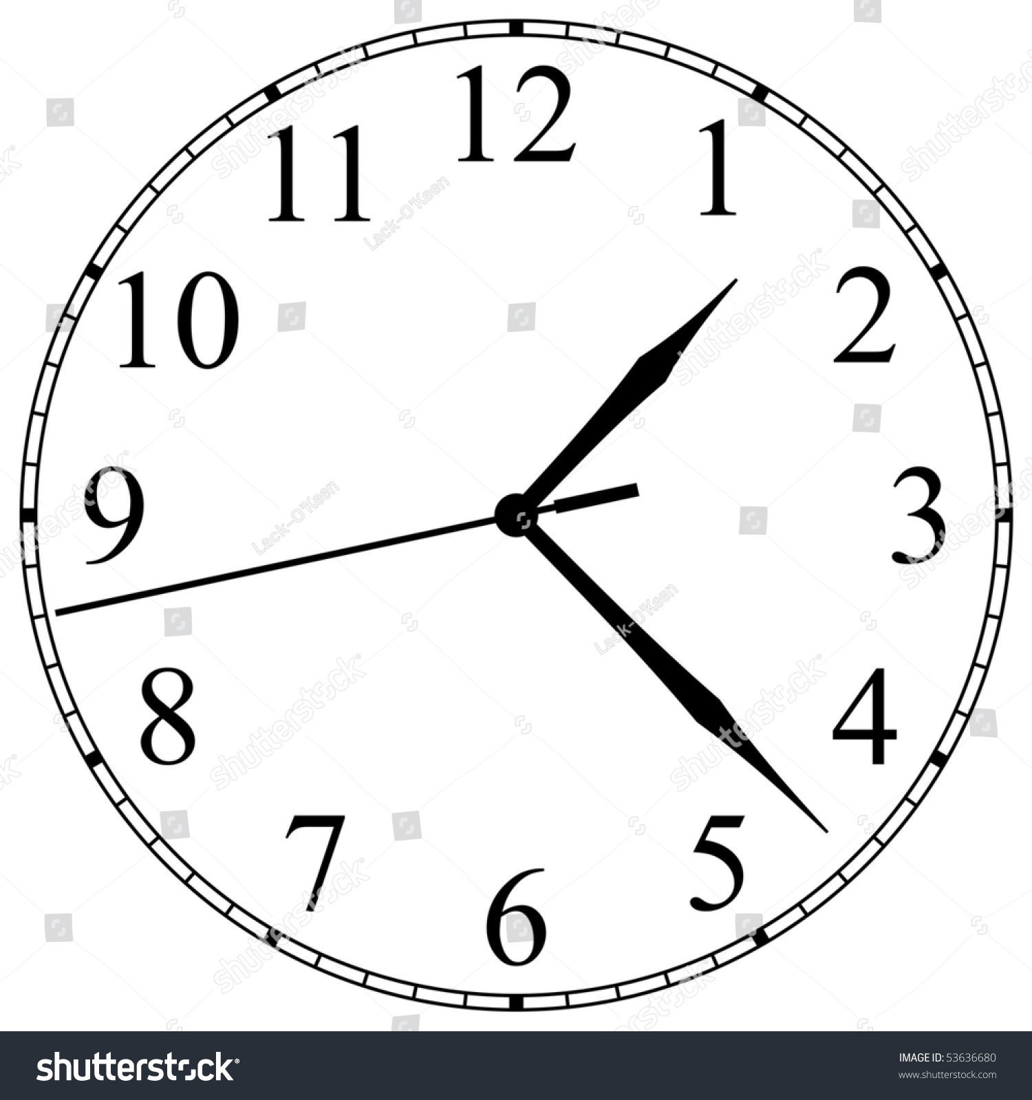 worksheet Clock Face clockface stock vector 53636680 shutterstock clock face