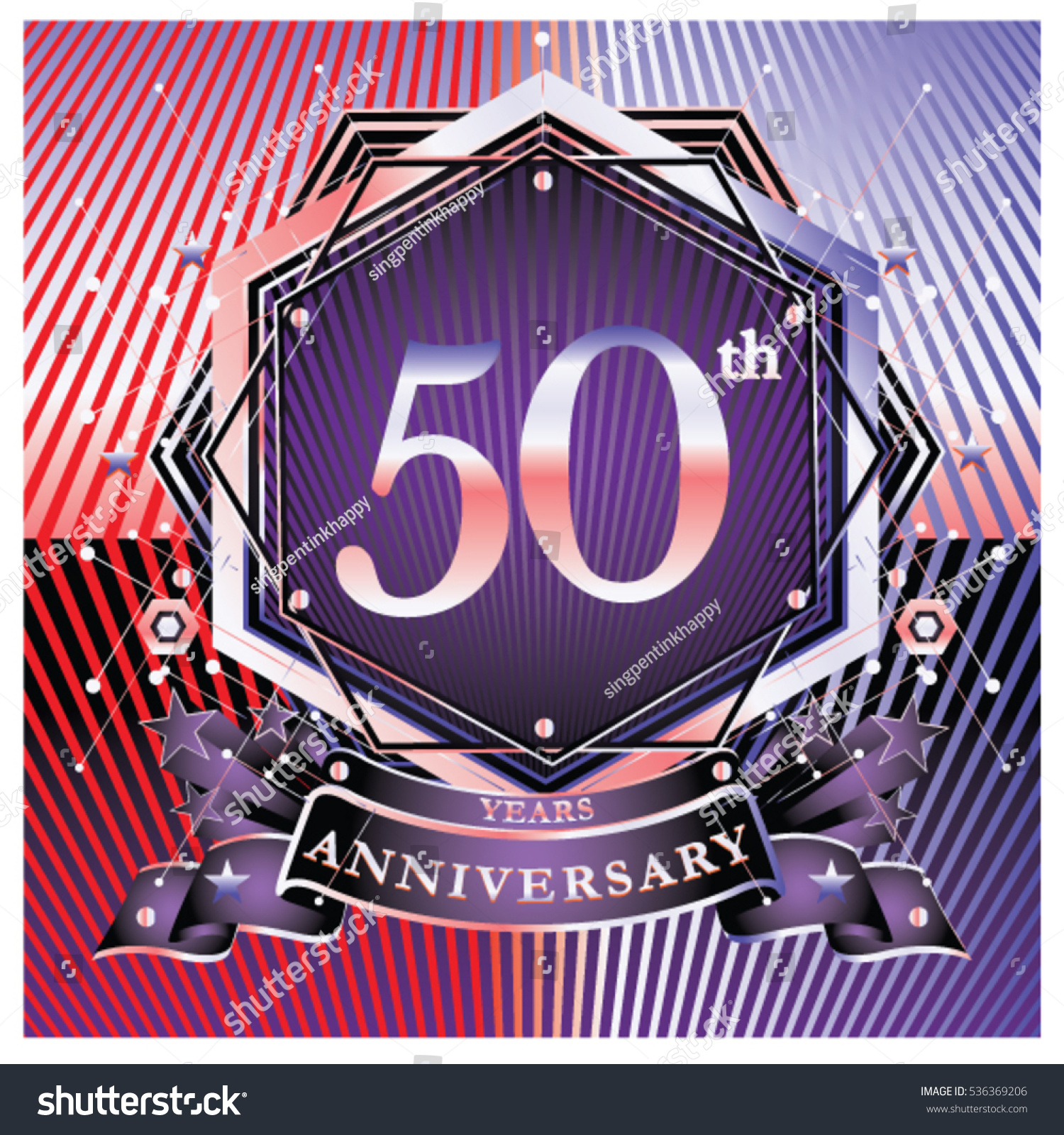 50 years golden anniversary logo celebration stock vector 50 years golden anniversary logo celebration with ring and ribbon symbol and template for greeting buycottarizona Choice Image