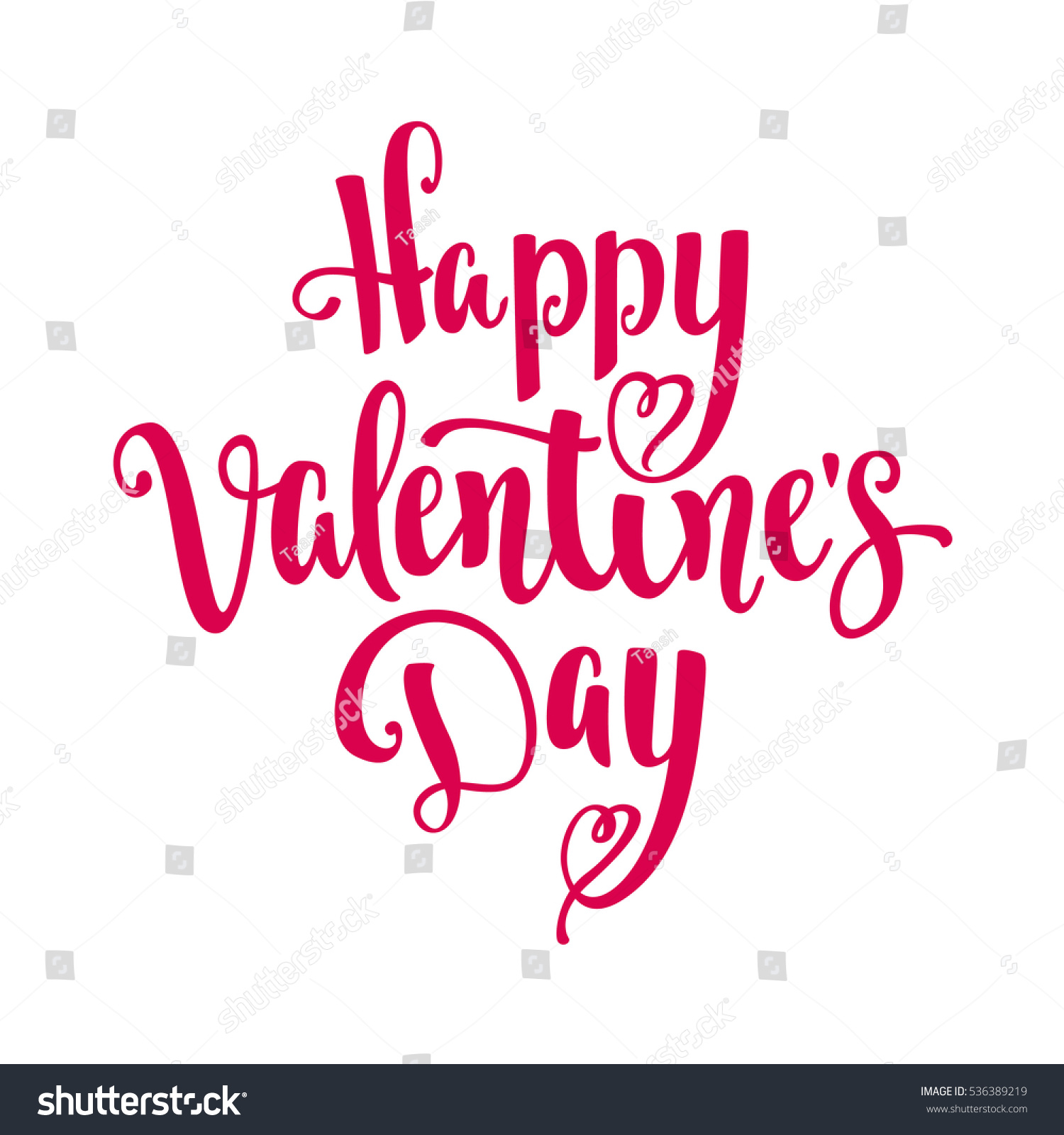 happy valentines day modern calligraphy style stock vector