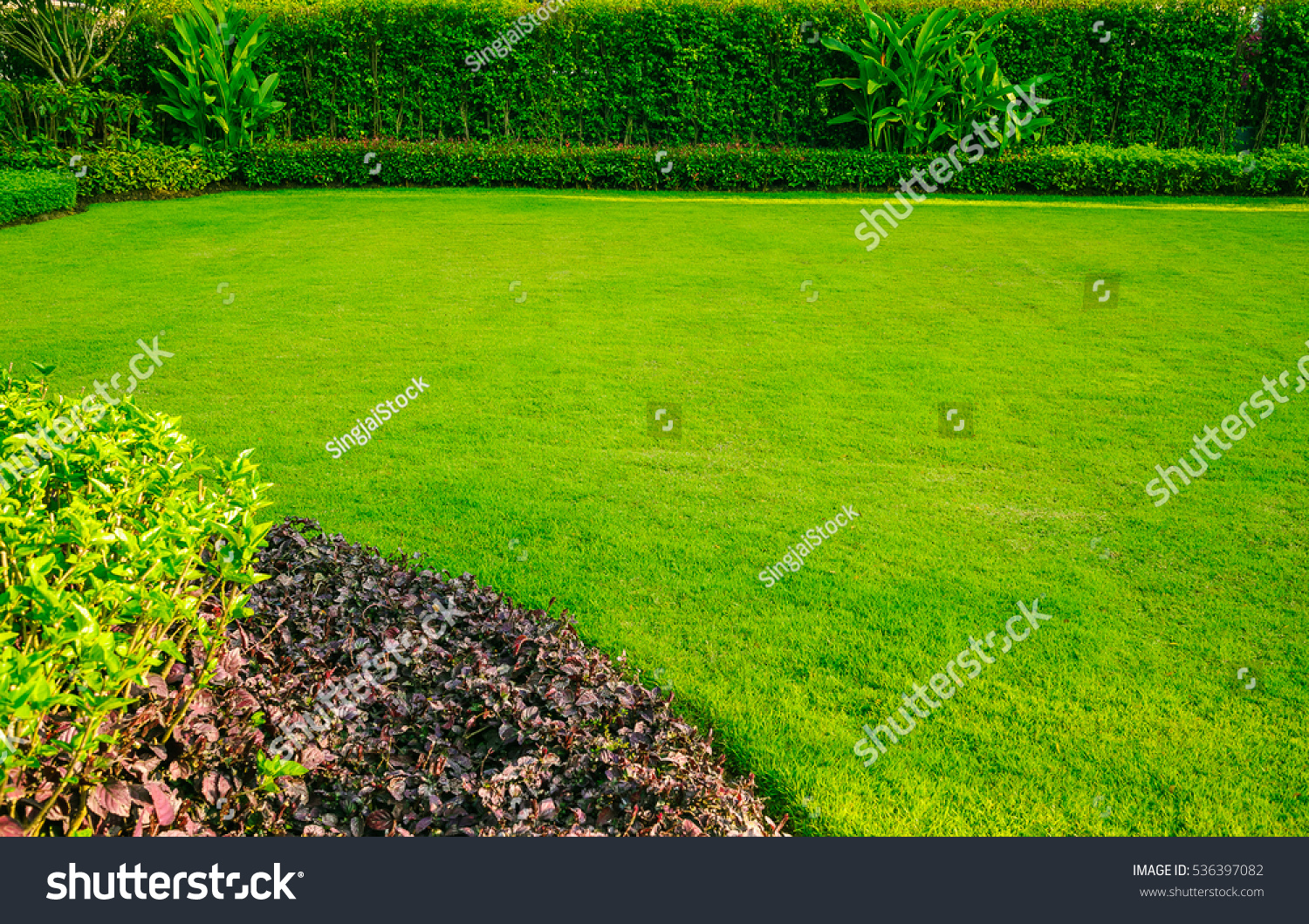 Green lawngarden landscape design stock photo 536397082 for Green landscape design