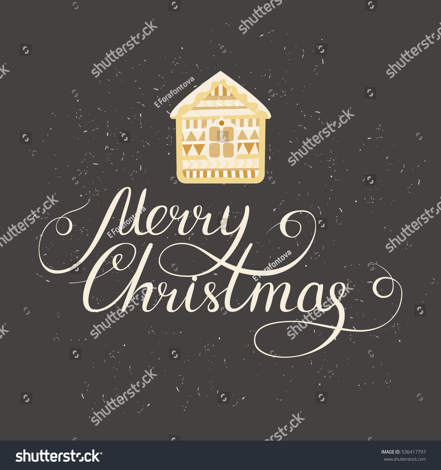 Simple Christmas Card Design Doodle Illustration Stockillustration ...