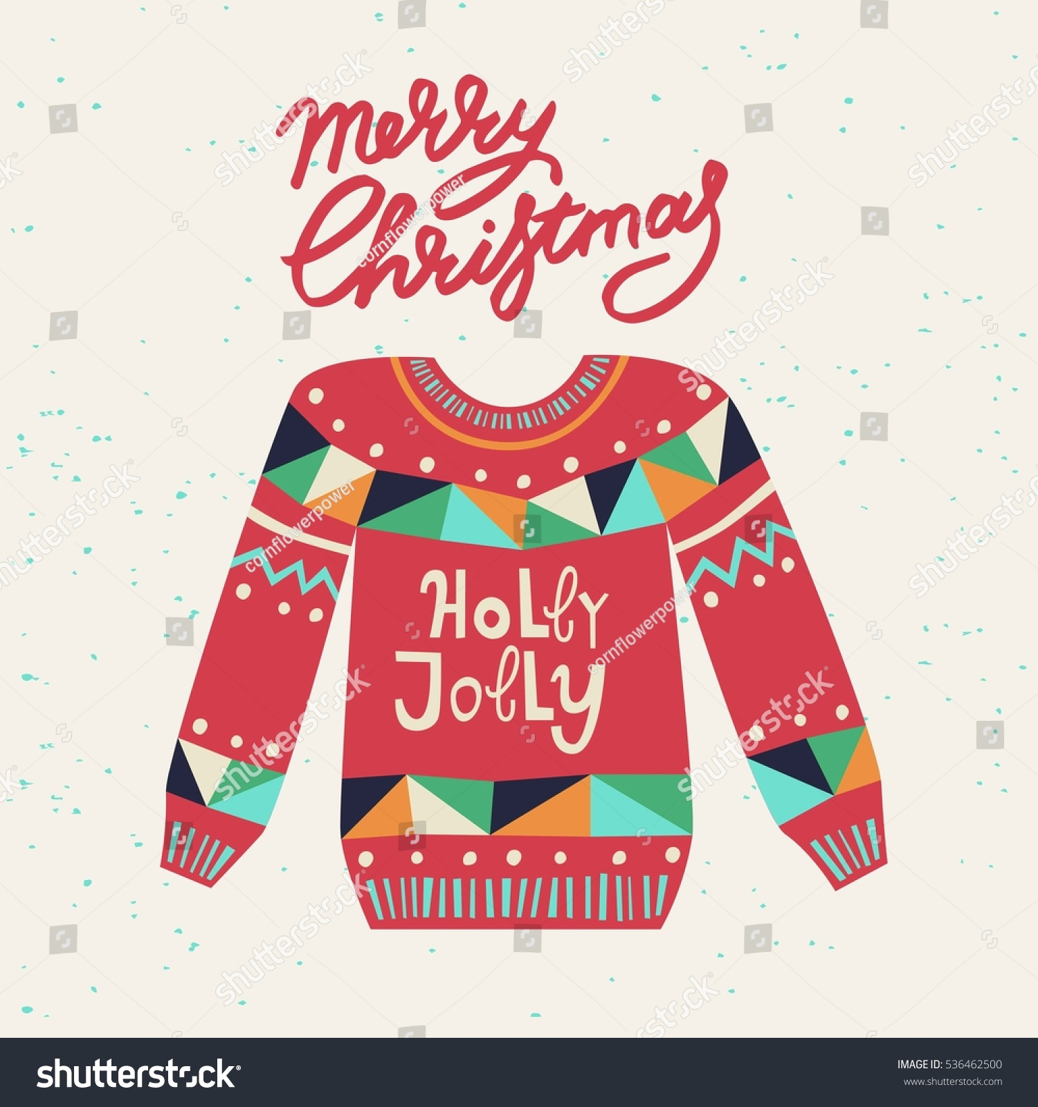 Cute Ugly Christmas Sweater Sweater Party Stock Vector Royalty Free