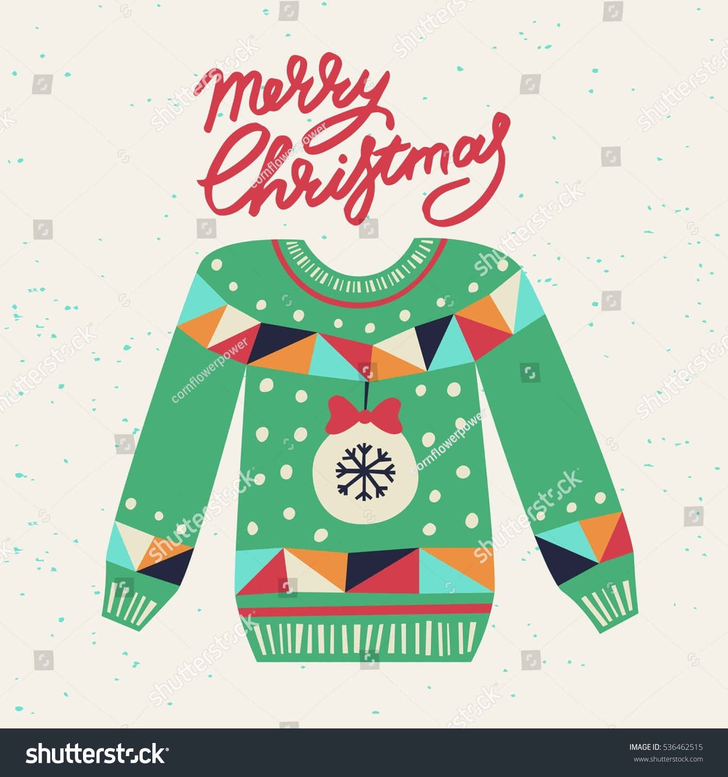 Cute Ugly Christmas Sweater Sweater Party Stock Vector 536462515 ...