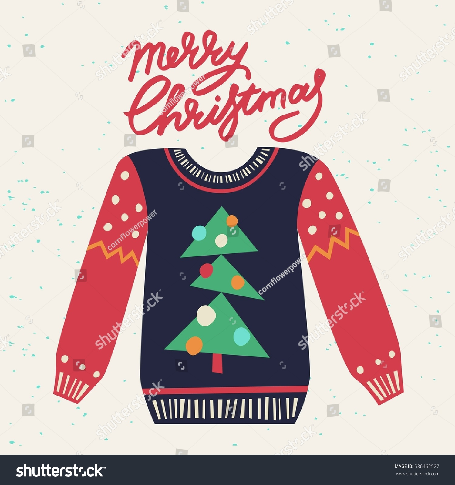 Cute Ugly Christmas Sweater Sweater Party Stock Vector 536462527 ...