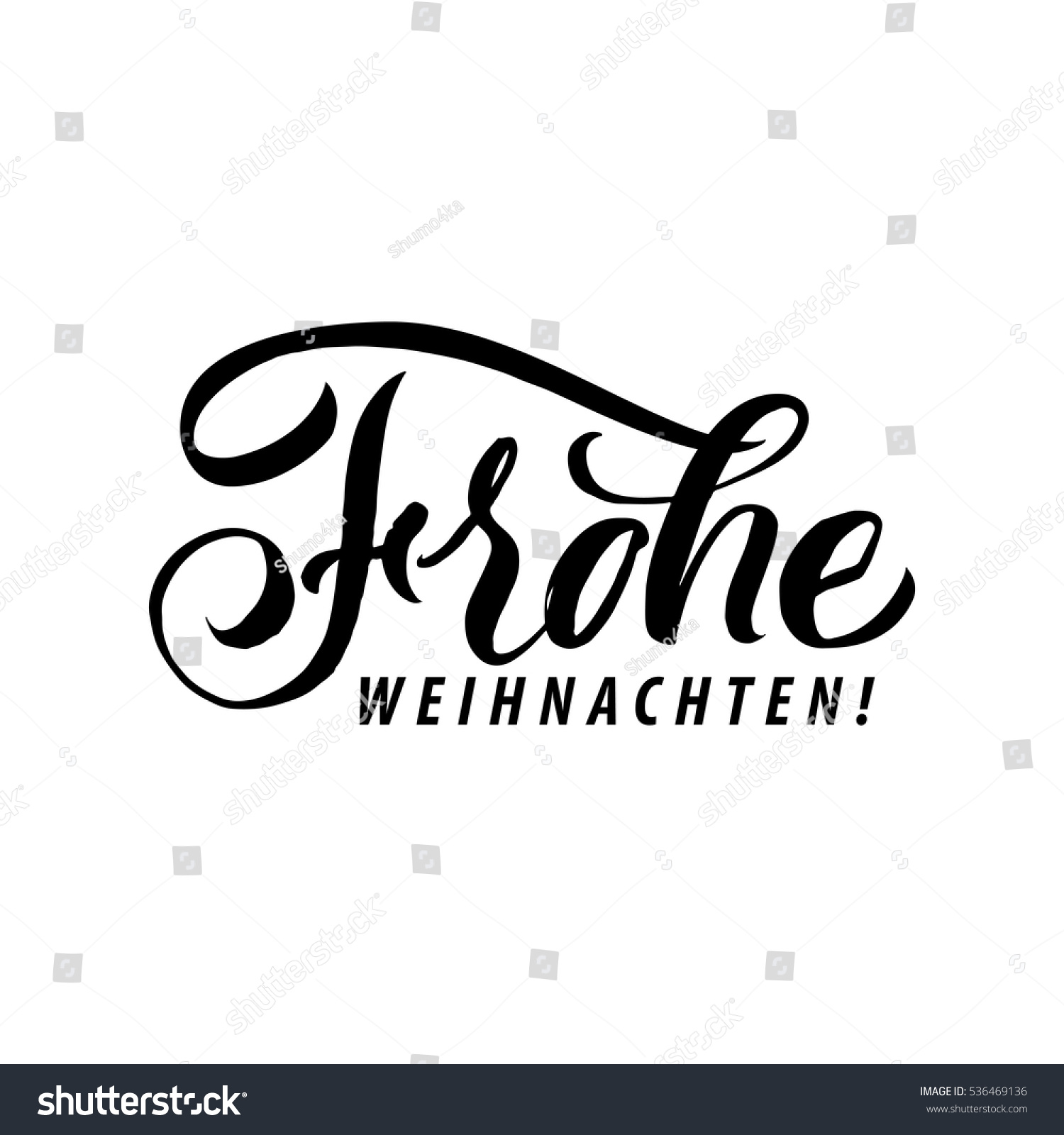 frohe weihnachten merry christmas calligraphy german stock. Black Bedroom Furniture Sets. Home Design Ideas