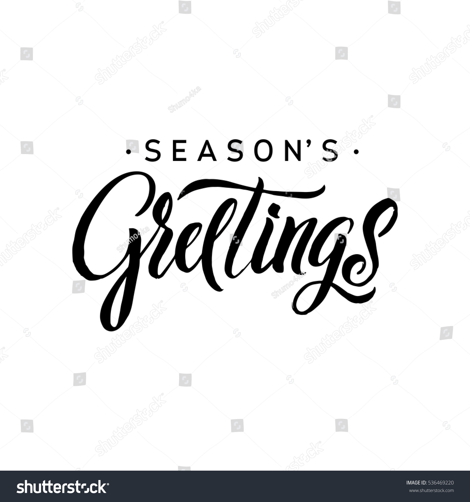 Stock images royalty free images vectors shutterstock seasons greetings calligraphy greeting card black typography on white background vector illustration hand drawn kristyandbryce Image collections