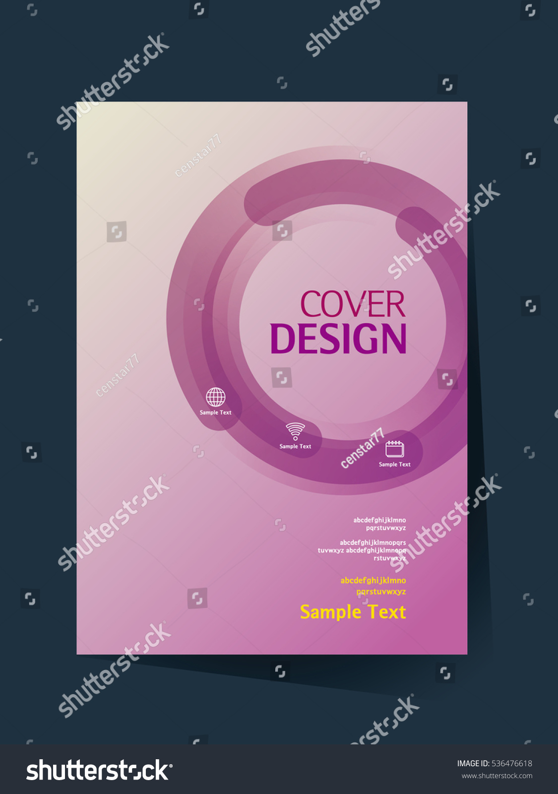 Simple Book Cover Template : Brochure design vector template a size stock