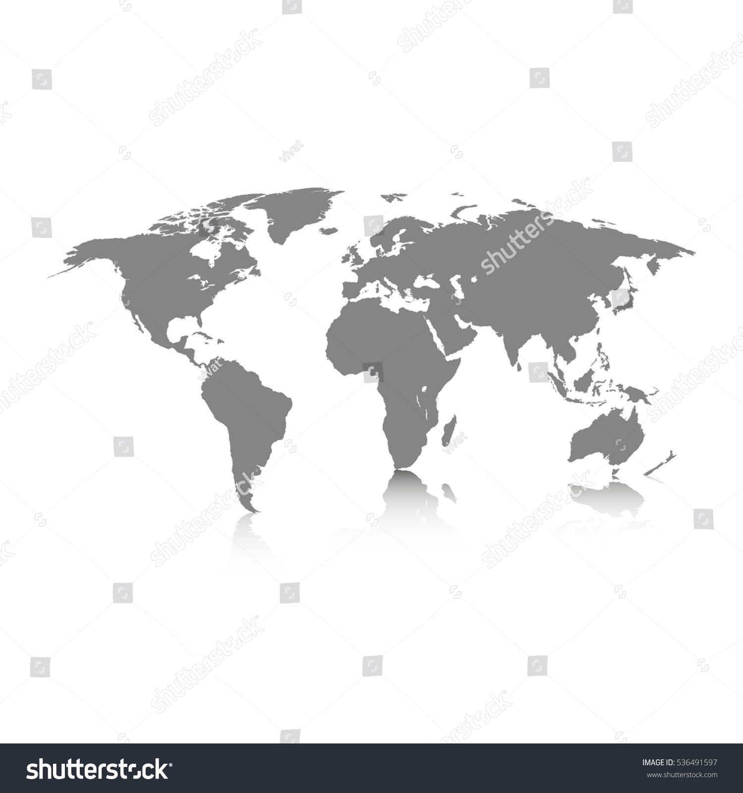 World map grey colored on white vector de stock536491597 shutterstock world map grey colored on a white background gumiabroncs Gallery