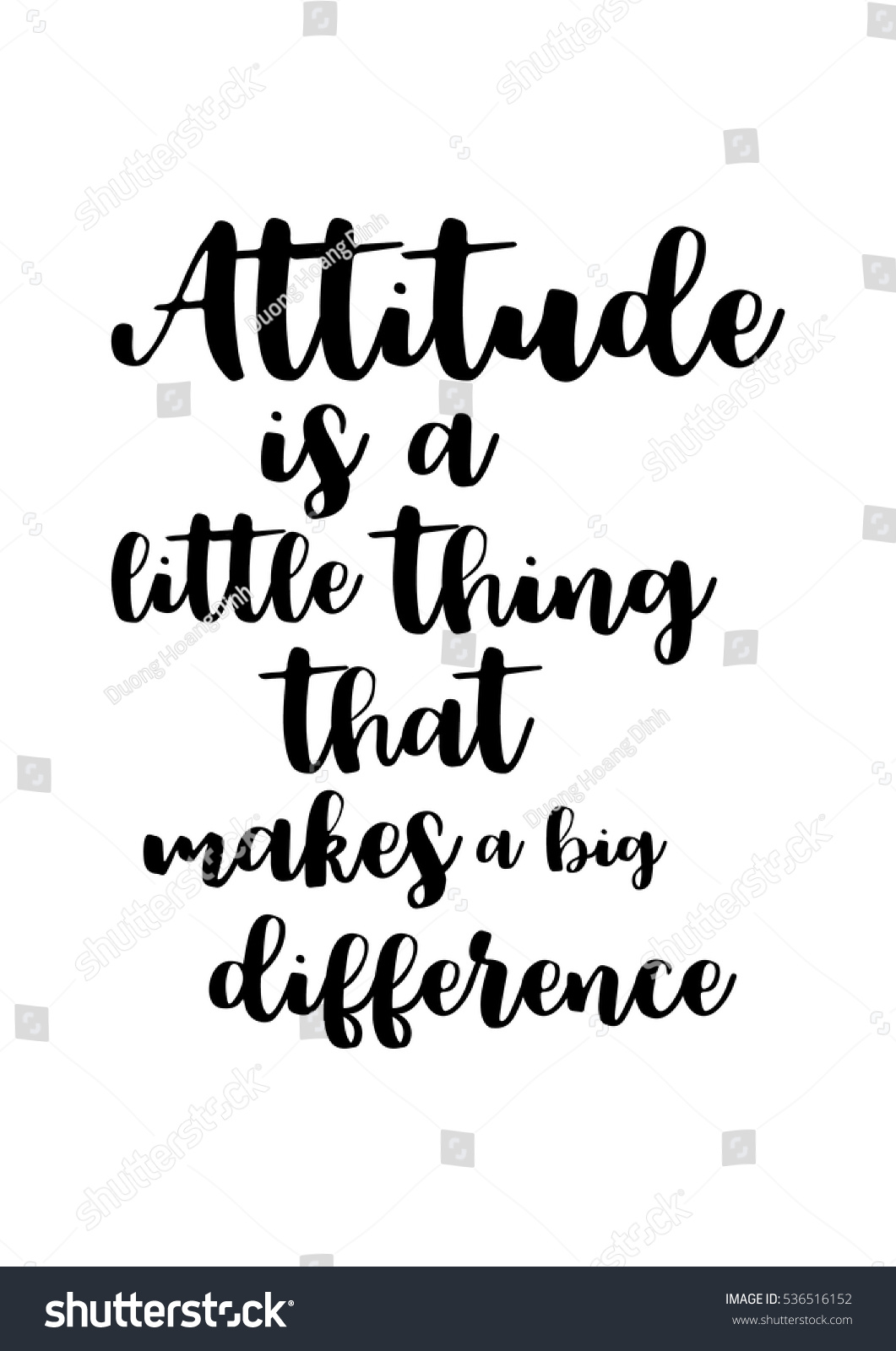 Motivational Quote Vector Lettering Poster Black Stockvector