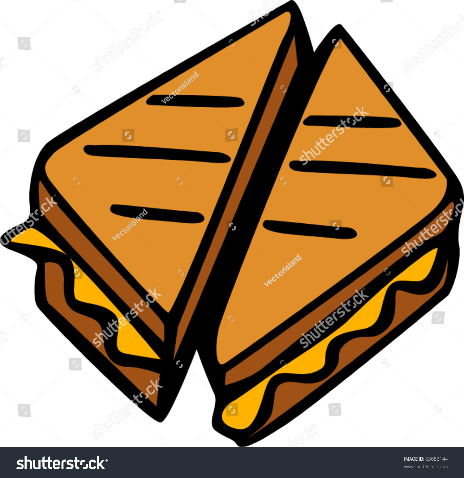 grilled cheese sandwich stock vector 53653144 shutterstock rh shutterstock com National Grilled Cheese Day Grilled Cheese Day
