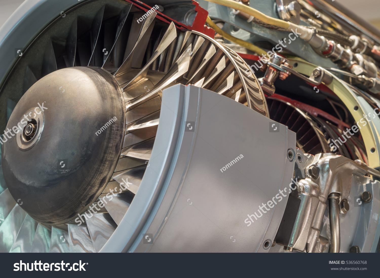 Detailed Exposure Turbo Jet Engine Stock Photo (Edit Now