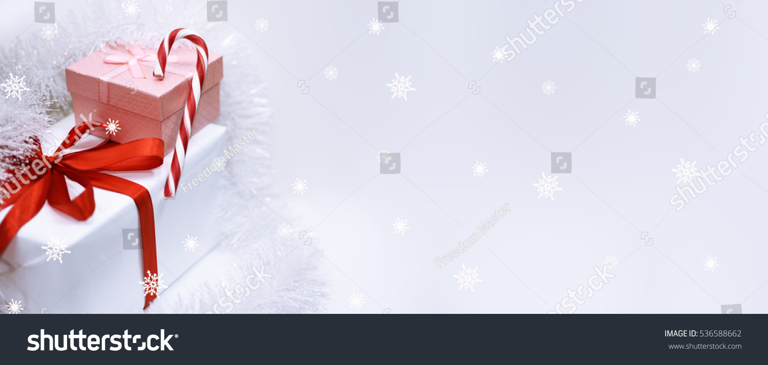 Happy Merry Christmas Header Image Isolated Stock Photo (Edit Now ...