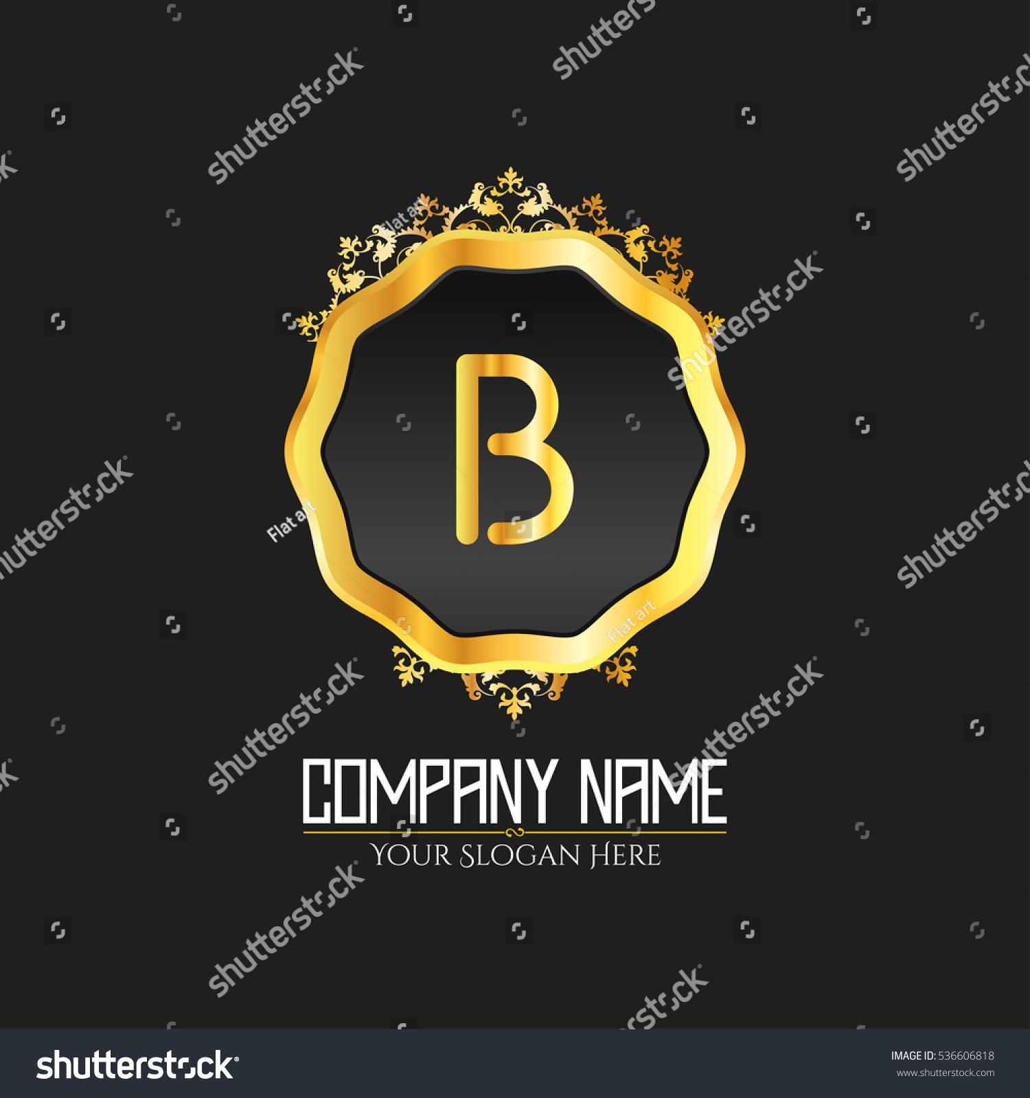 B Letter Logo Monogram Design Elements Stock Vector 536606818 ...
