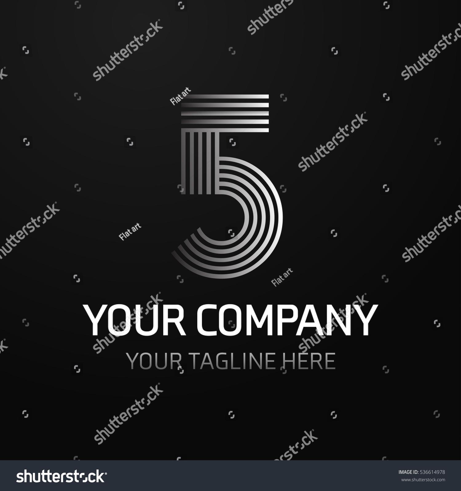 5 Letter Logo Monogram Design Elements Line Art Beautiful Boutique
