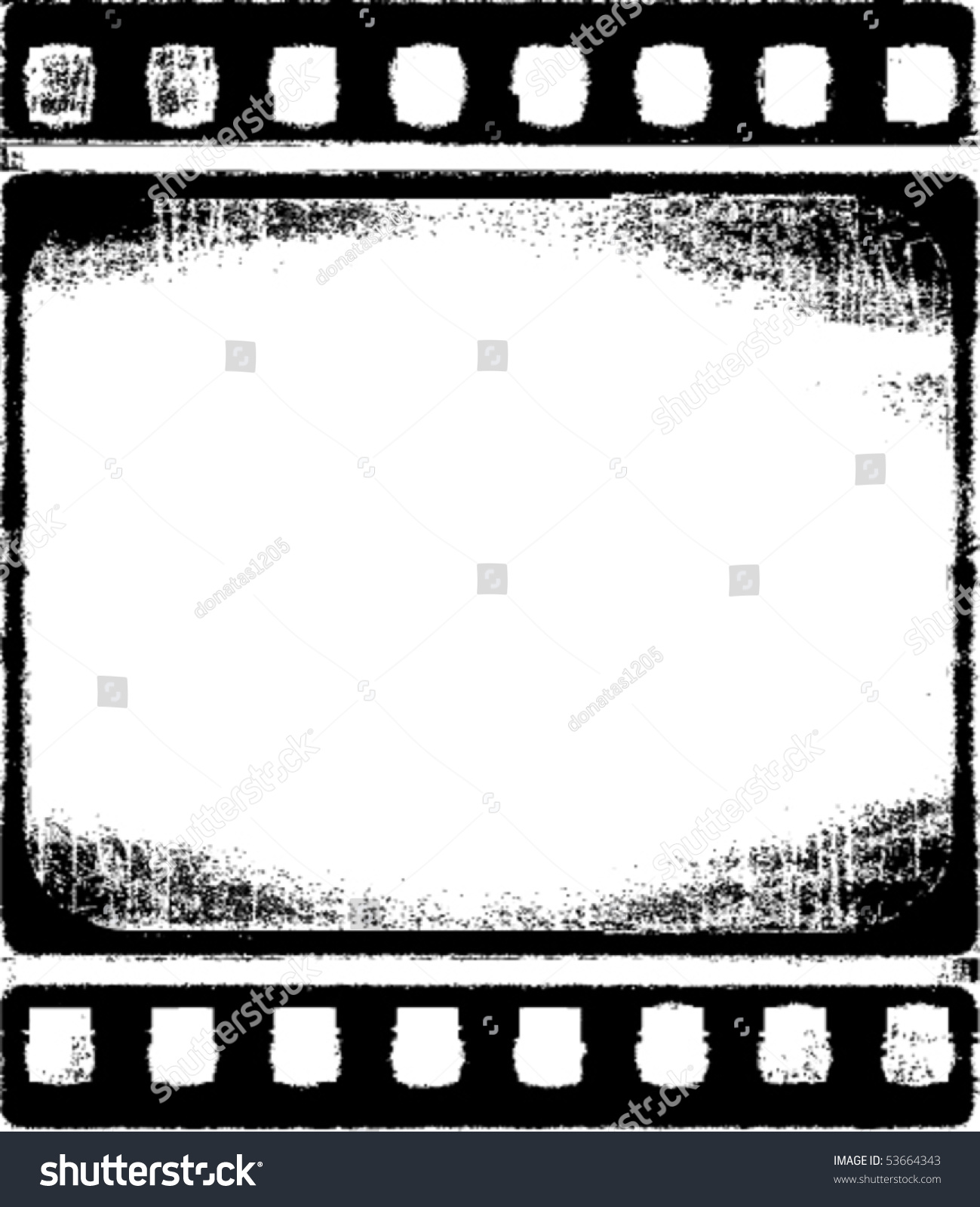 Vector Grunge Filmstrip Frame Stock Vector HD (Royalty Free ...