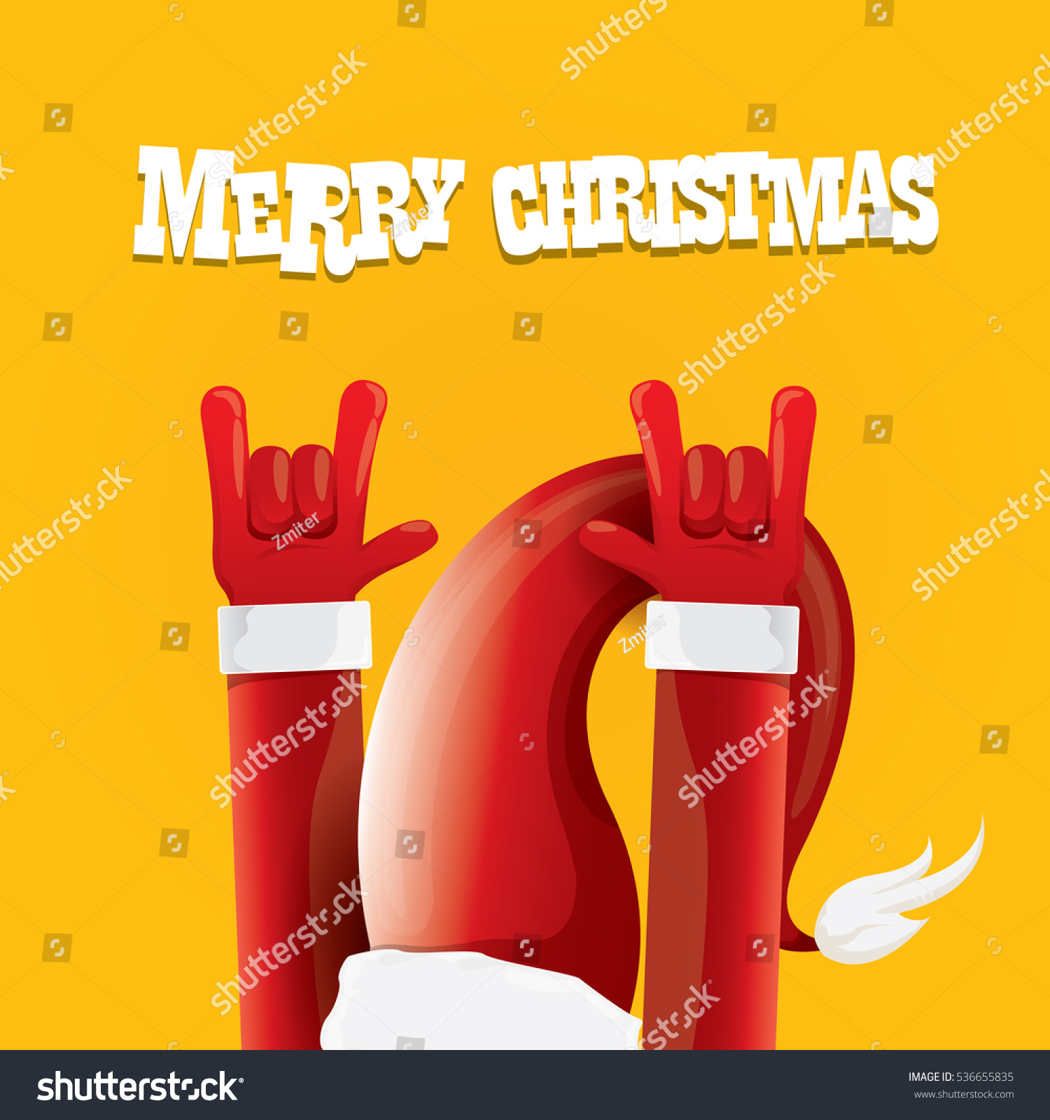 Rock n roll poster design - Vector Santa Claus Rock N Roll Style Merry Christmas Rock N Roll Party Poster Design