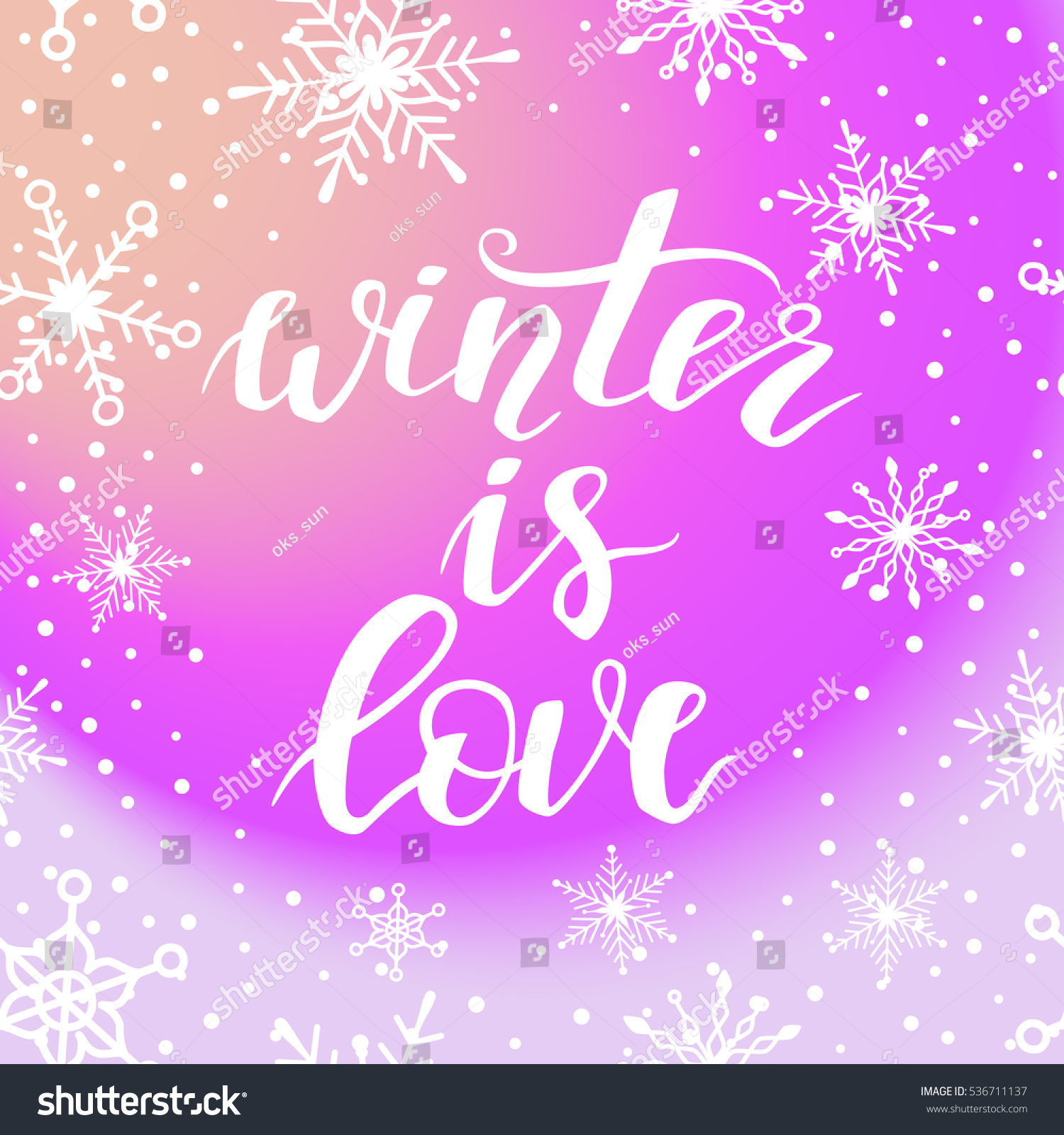 Winter Love Greeting Card Christmas New Stock Vector Royalty Free