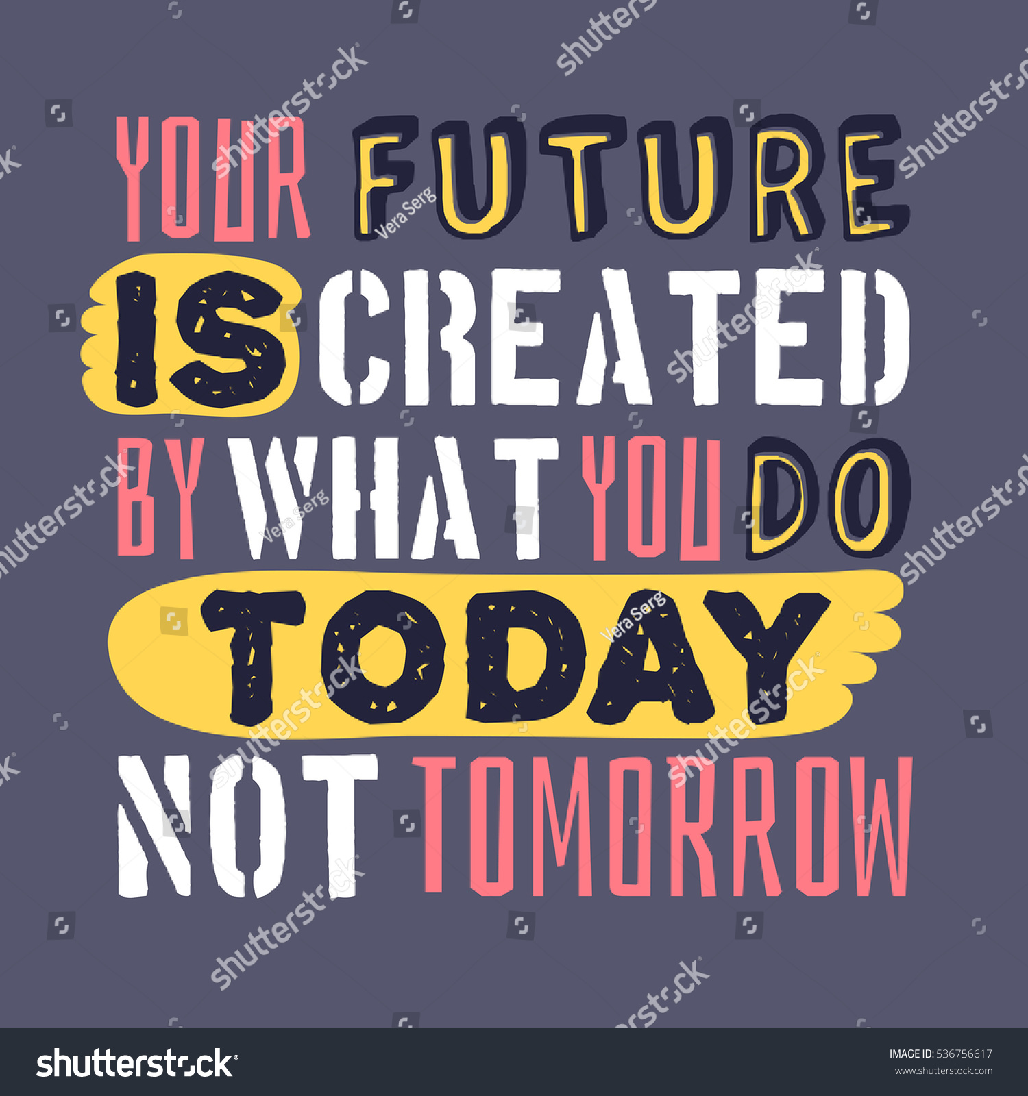 text template design your future created stock vector