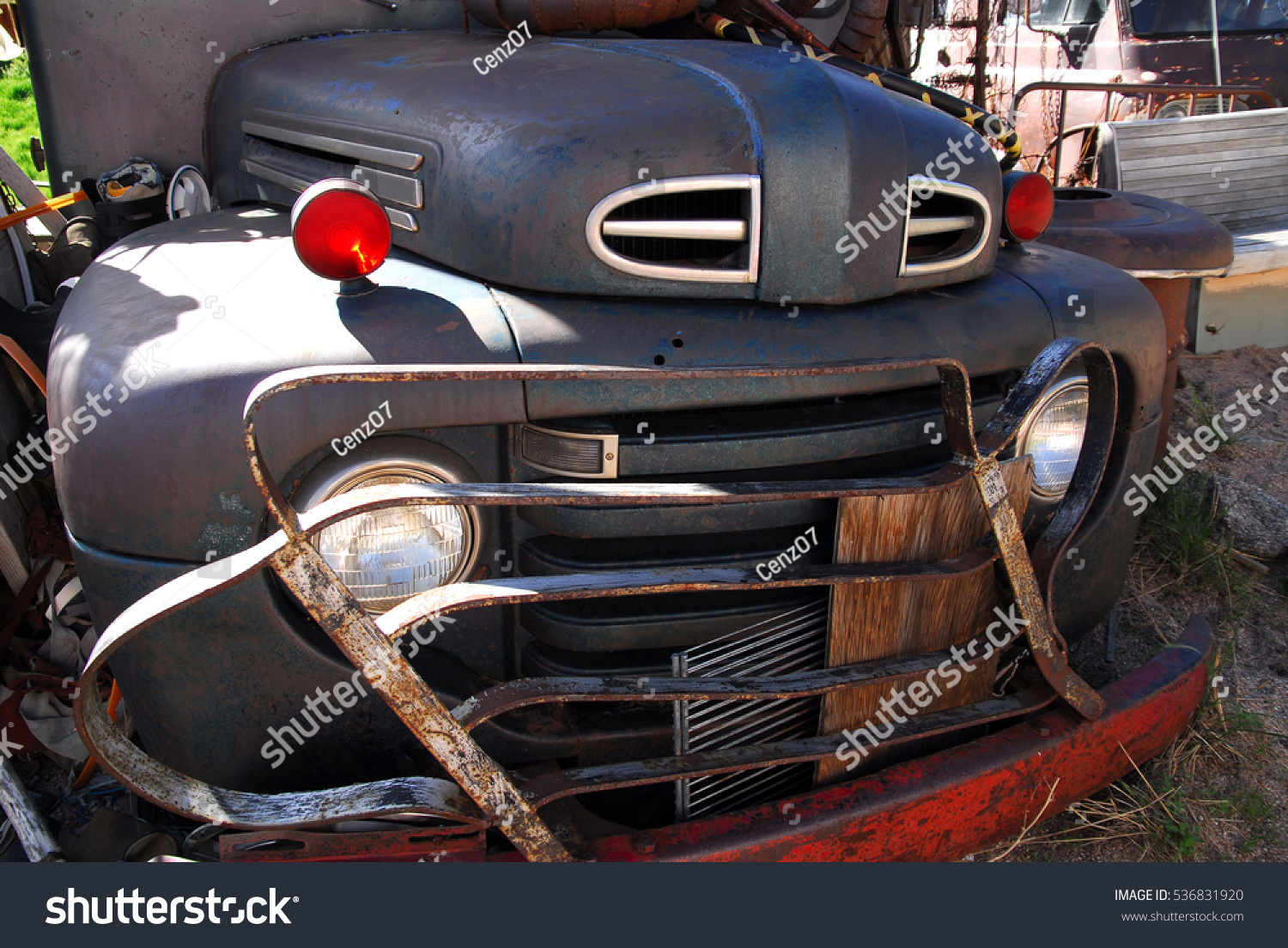 Antique American Cars Not Working Parked Stock Photo (Edit Now ...