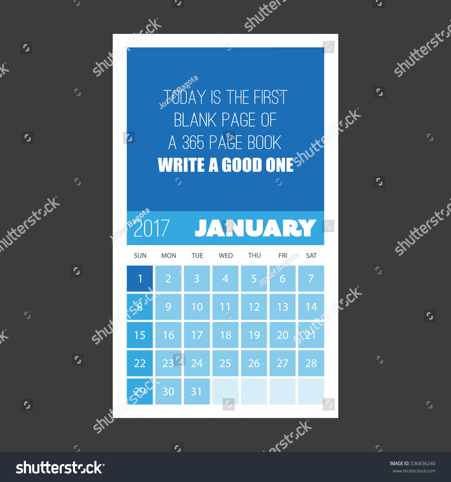 today first blank page 365 page stock vector 536836240 shutterstock