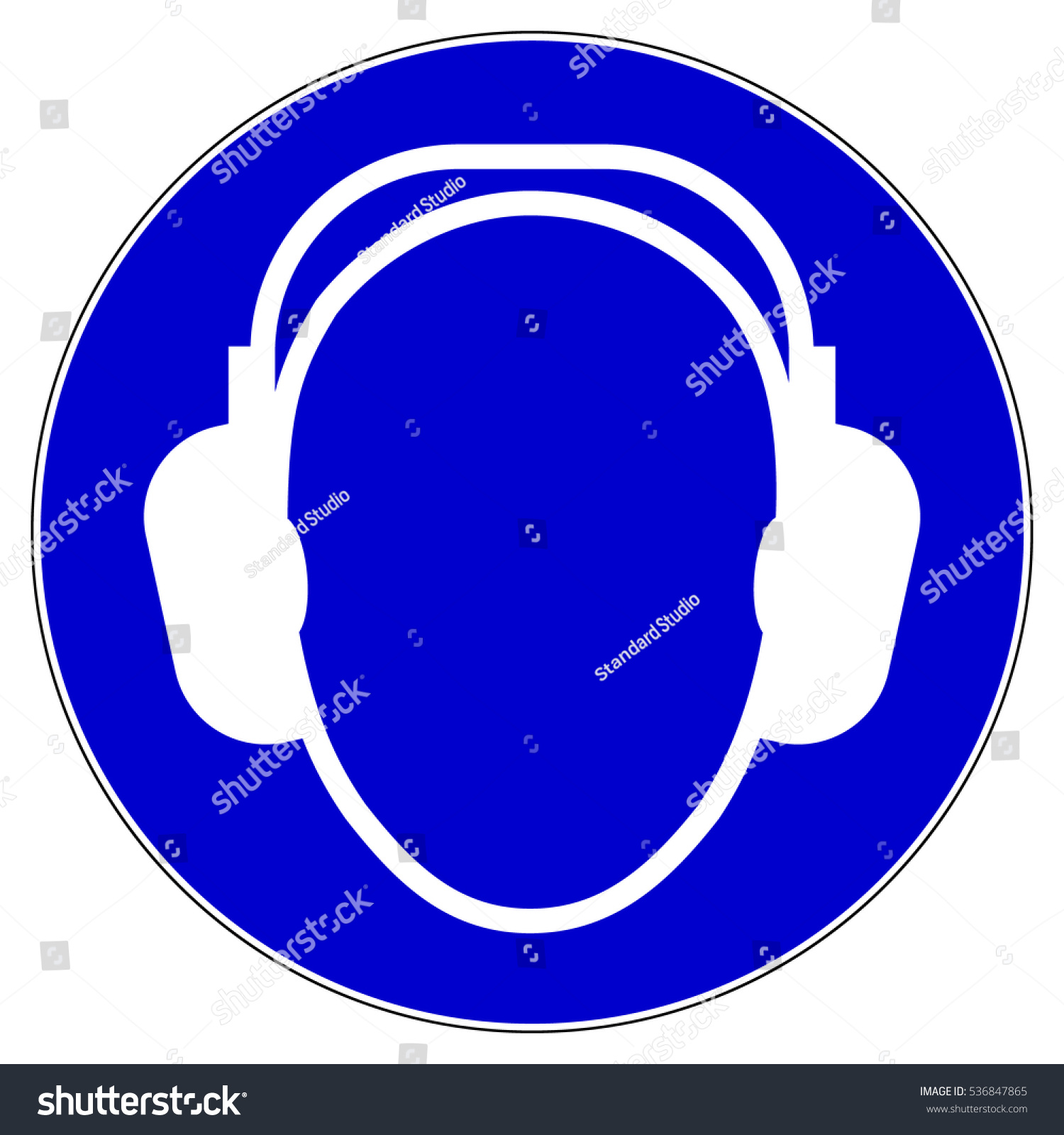 Wear Ear Protection Protective Safety Ear Stock Vector Royalty Free