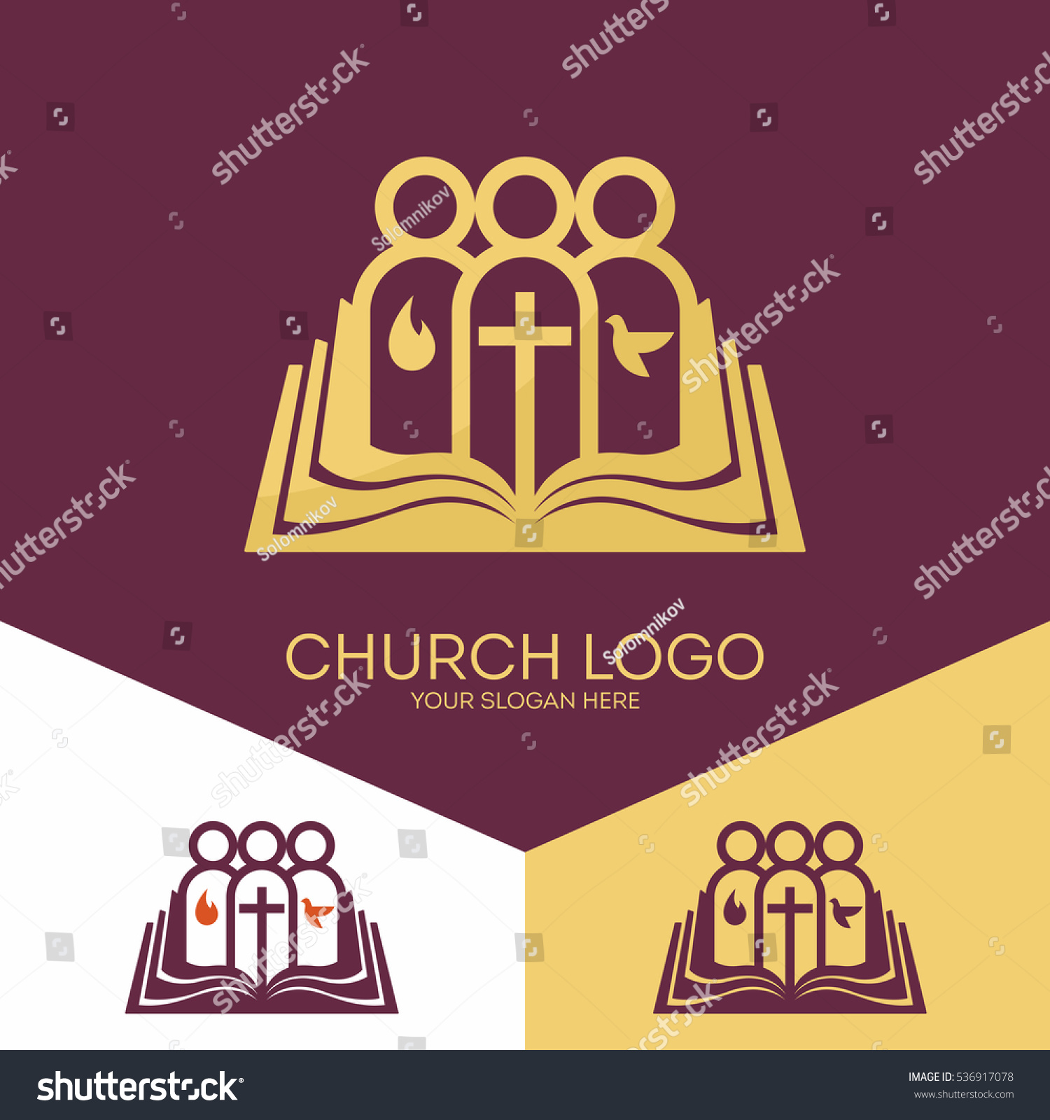 Church logo christian symbols church god stock vector 536917078 church logo christian symbols church of god faithful to the lord jesus christ buycottarizona Image collections