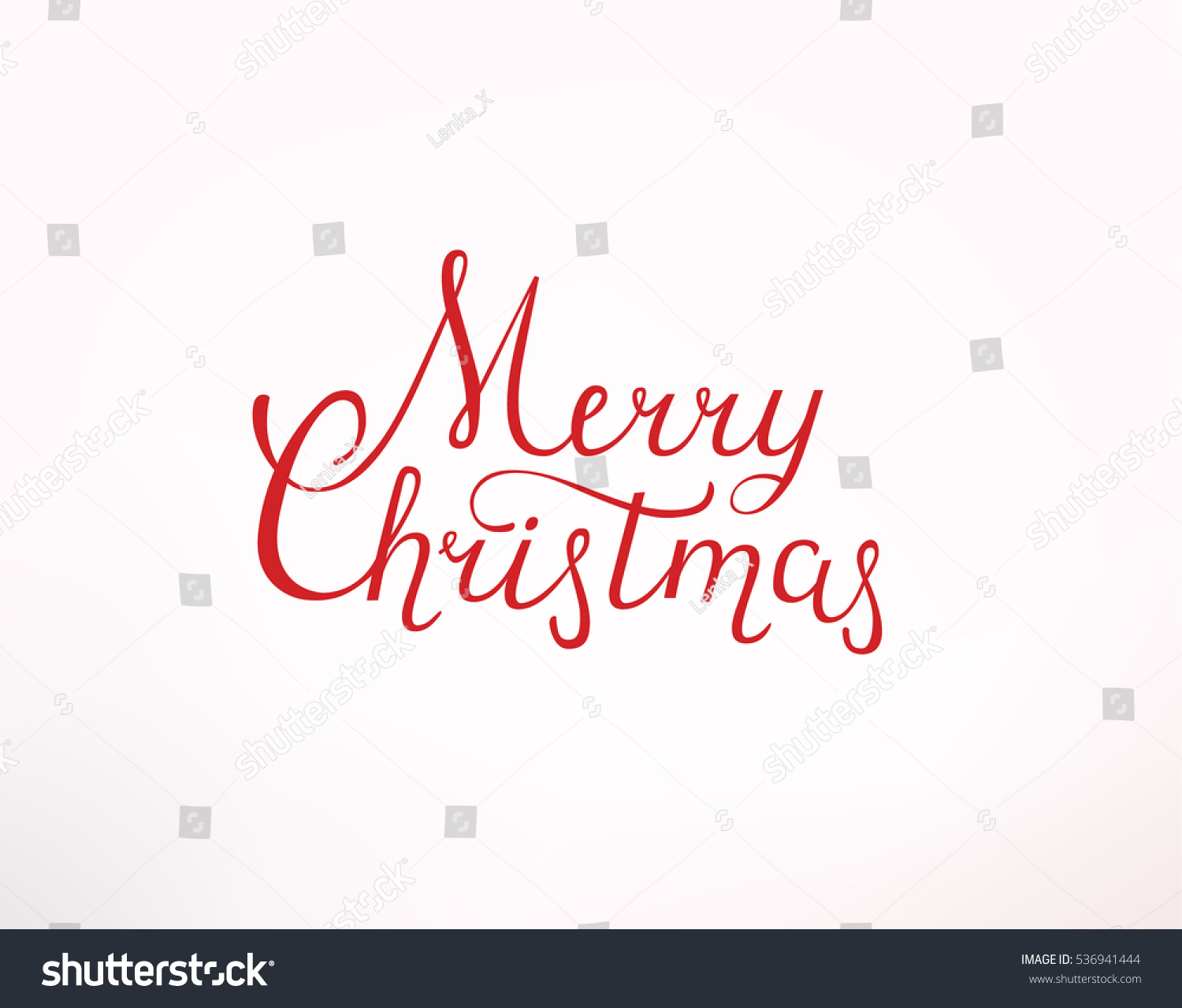lettering merry christmas design card template stock