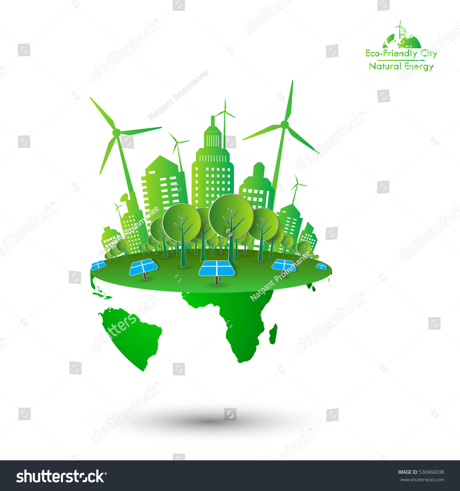 eco friendly ecology concept green earth stock vector 536966038 shutterstock. Black Bedroom Furniture Sets. Home Design Ideas