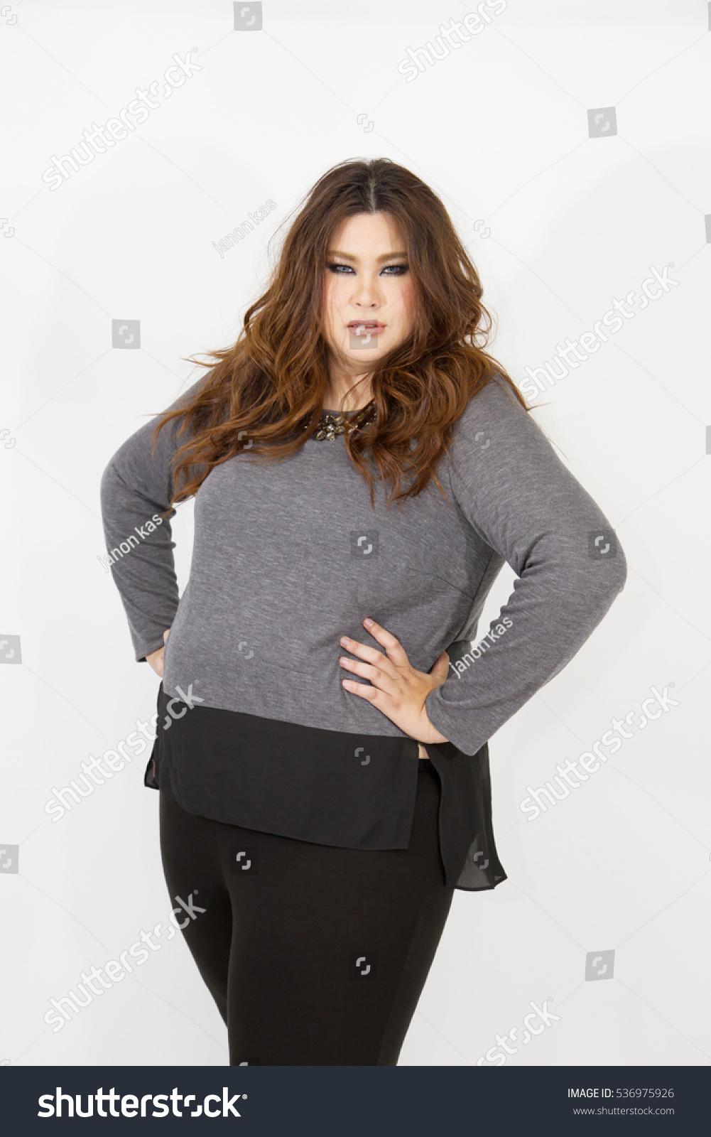 Sexy Fat Girl Portrait Plussize Woman Stock Photo Edit Now 536975926