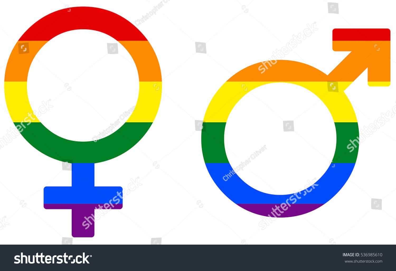 Rainbow gay gender sex symbol male stock illustration 536985610 rainbow gay gender sex symbol male and female isolated buycottarizona
