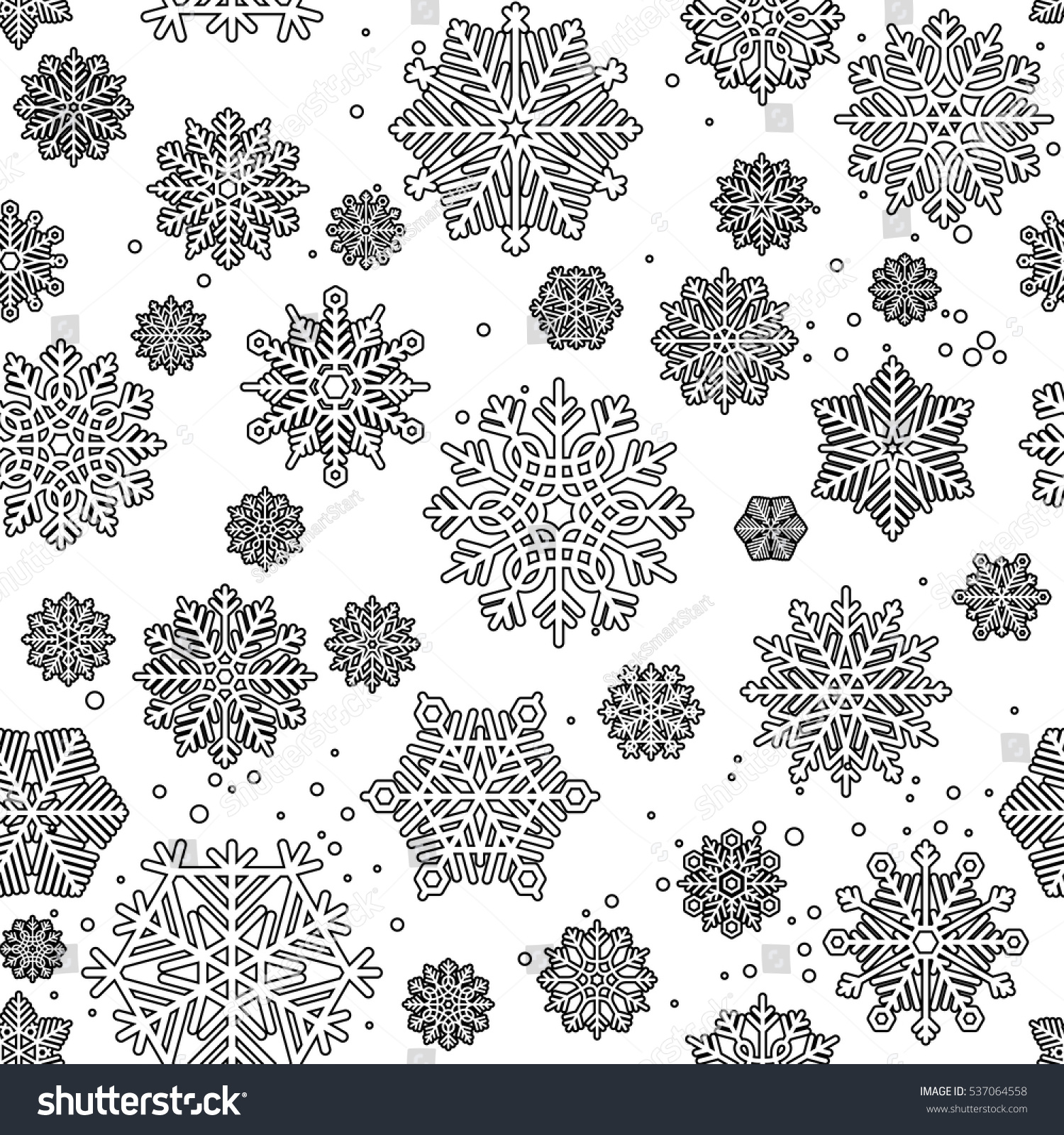 black mono color seamless pattern coloring stock vector 537064558