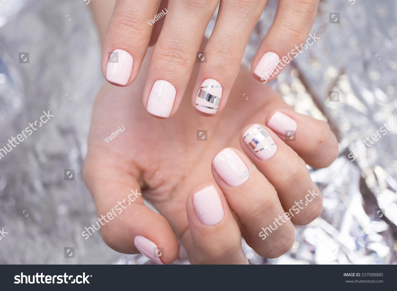 Natural Nails Gel Polish Perfect Clean Stock Photo (Royalty Free ...
