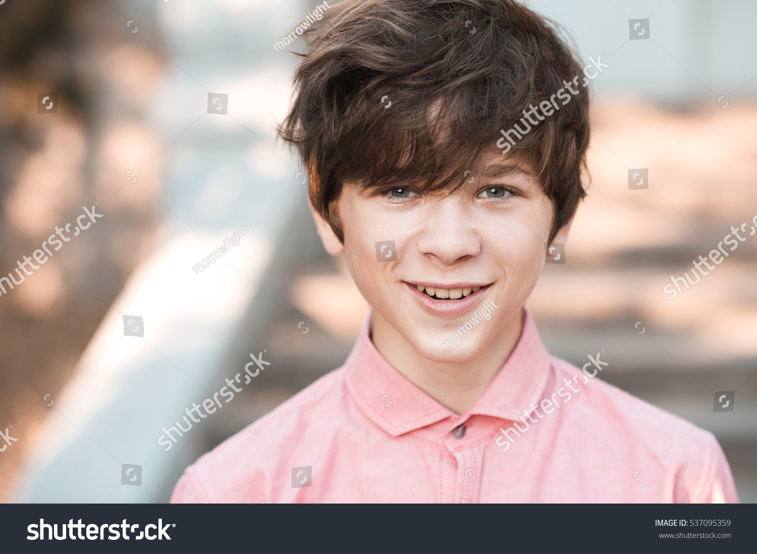 Funny Teenage Boy 1416 Year Old Stock Photo 537095359