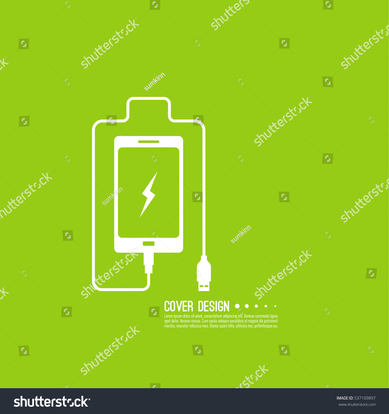 Abstract Background Charge Mobile Phones Usb Stock Vector Hd