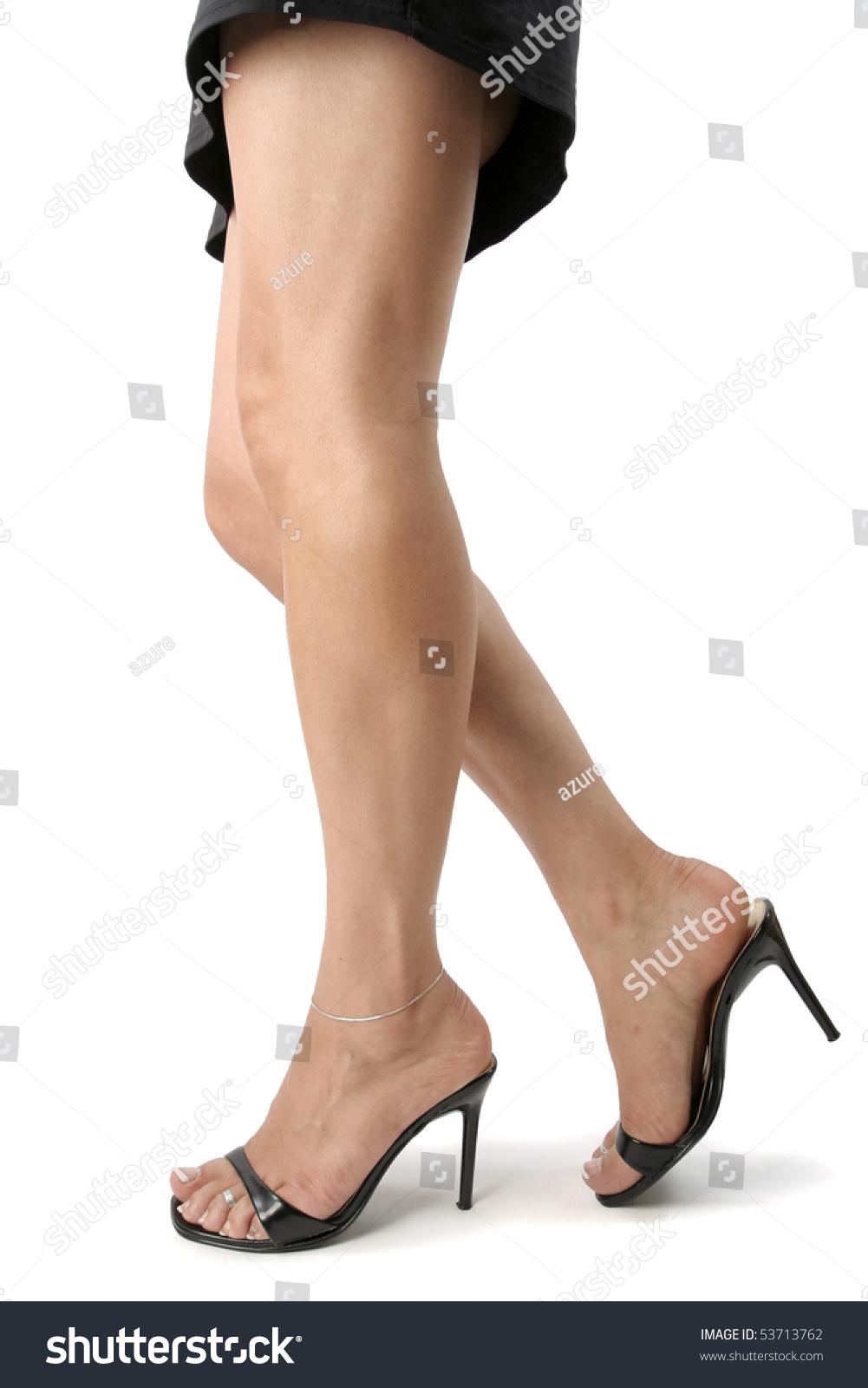 Beautiful Woman Legs Feet Black Heels Stock Photo (Edit Now ...