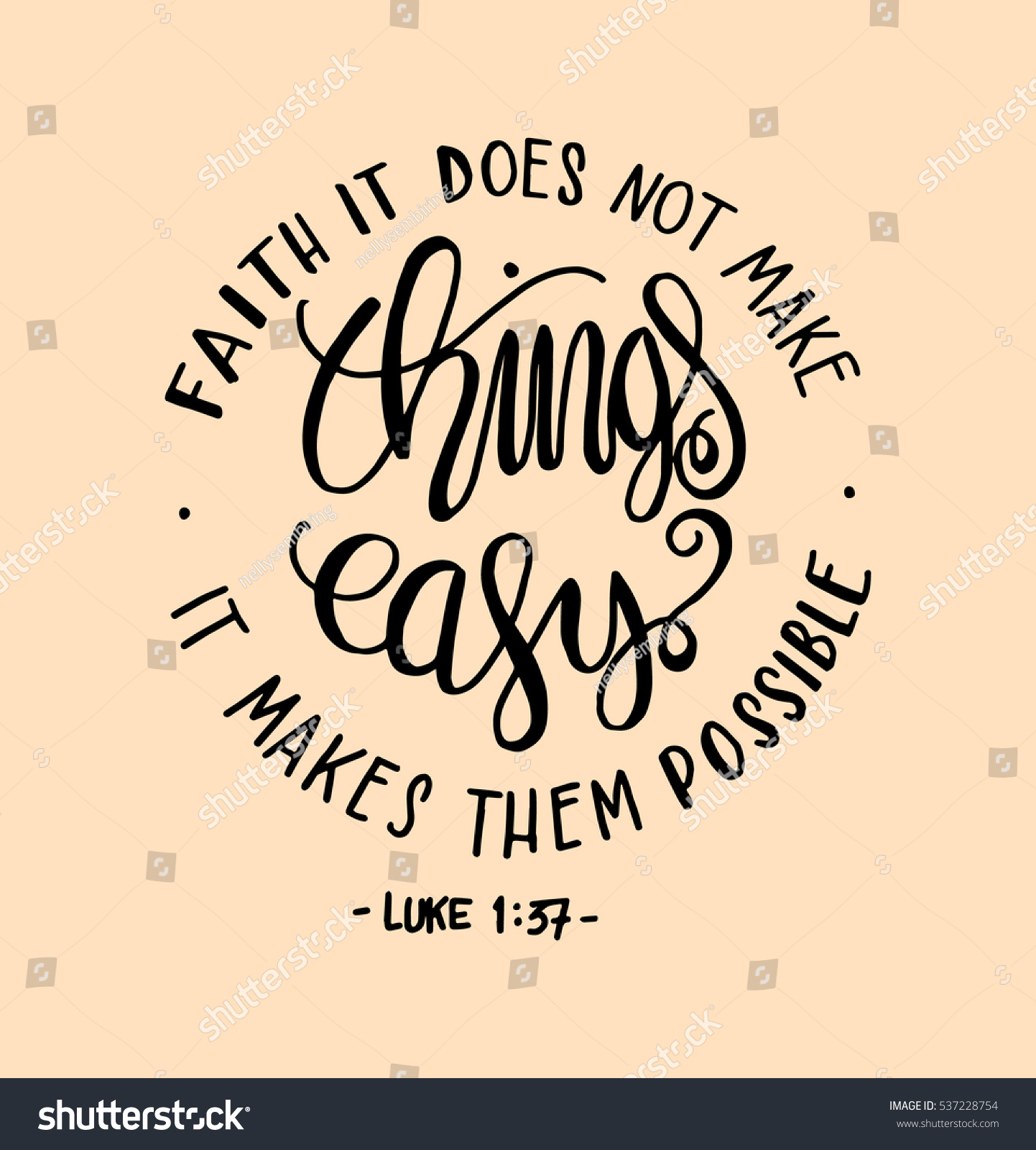 Faith does not make things easy stock vector