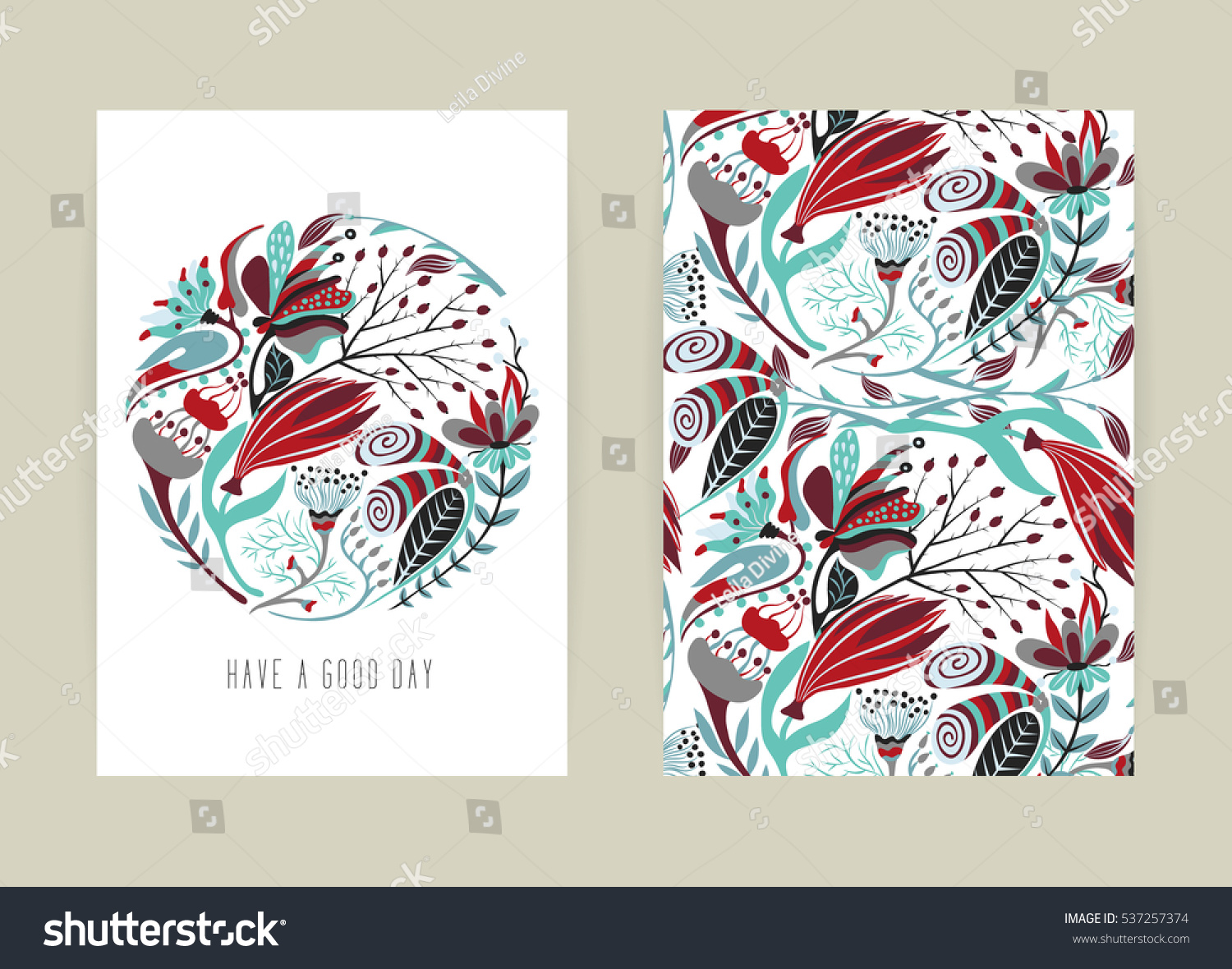 Book Cover Design Flower : Cover design floral pattern hand drawn stock vector